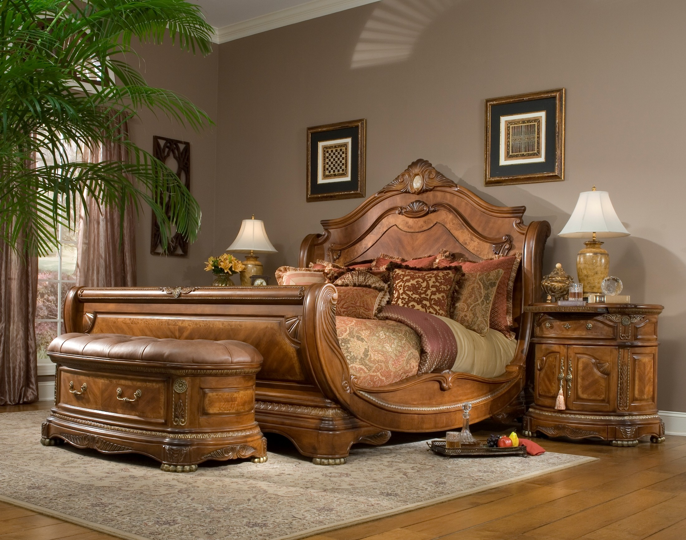 Wonderful Cortina Sleigh Bedroom Set From Aico (65000) | Coleman Furniture