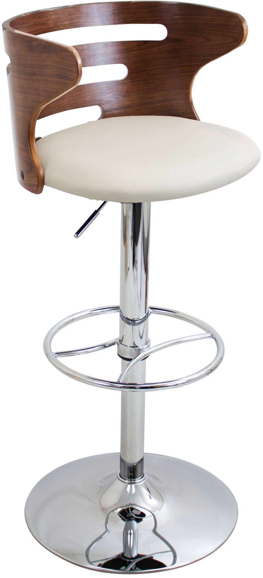 Cosi Walnut And Cream Adjustable Barstool From Lumisource