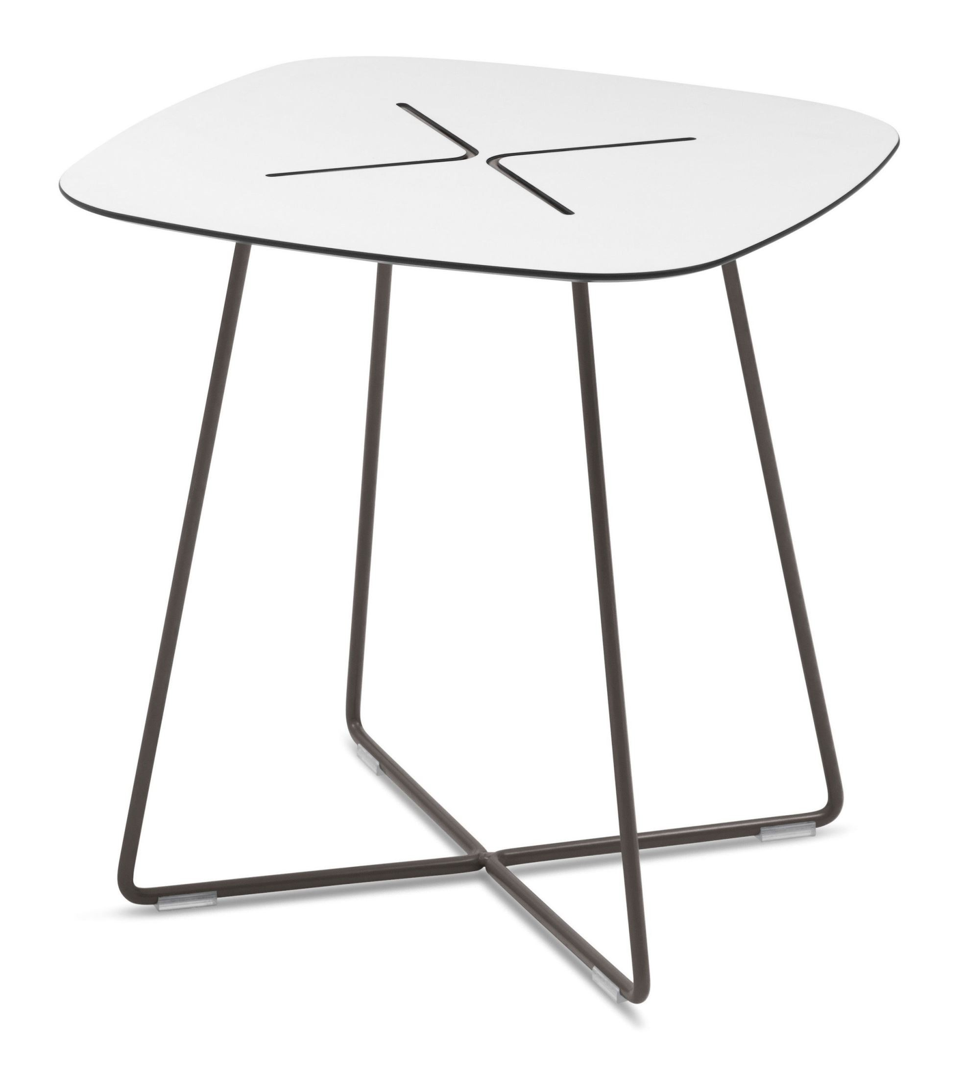 Low Coffee Table Square: Cross Anthracite Low Square Coffee Table From Domitalia
