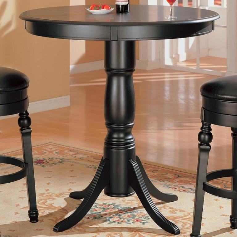 black finish bar counter height pub table 100278 from coaster 100278 coleman furniture. Black Bedroom Furniture Sets. Home Design Ideas