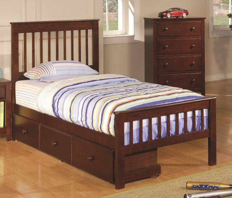 twin bed with storage underneath youth bed 400290t from coaster 400290t 20005