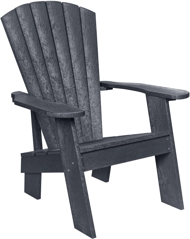 Captiva Casual Greystone Adirondack Chair From Cr Plastic