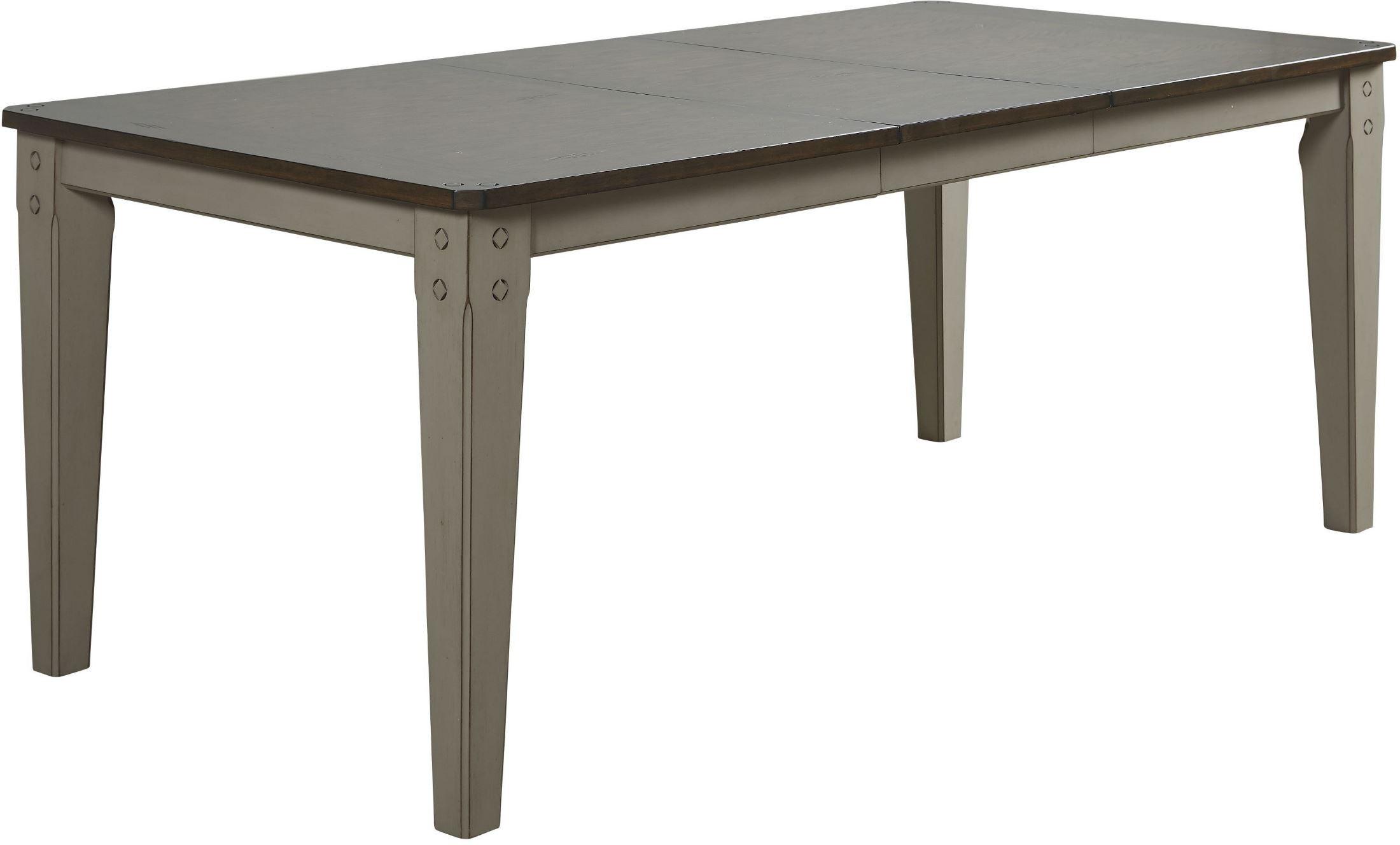 Shaker nouveau dark oak extendable rectangular dining for Dark oak dining table