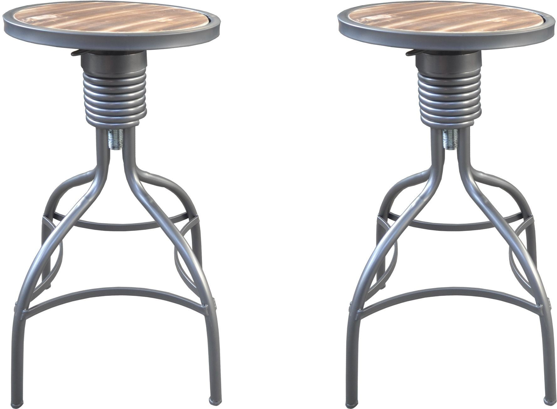 Laurell Hill Patina Gray And Rustic Fir 24 Bar Stool Set Of 2 From