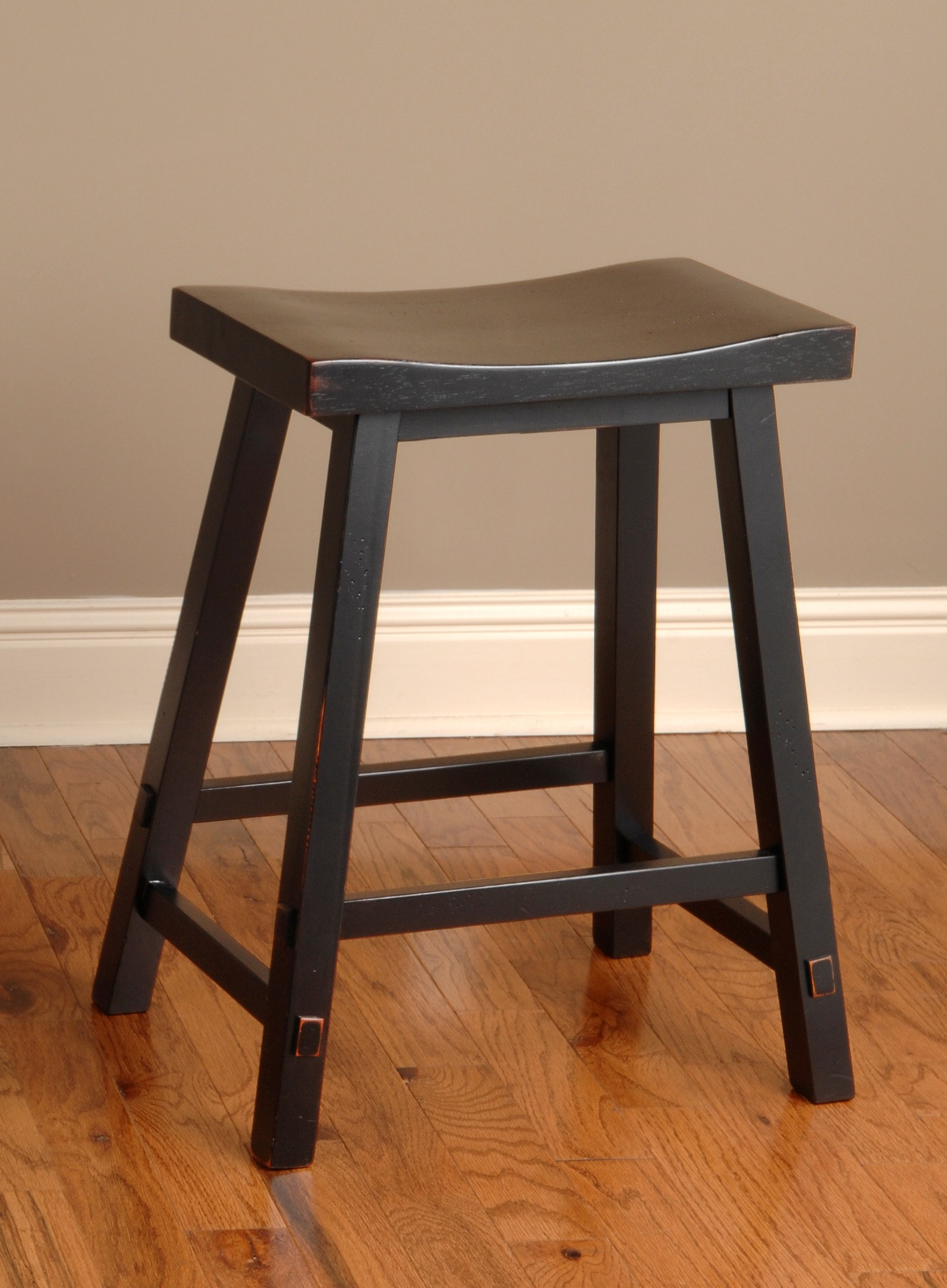 Biscayne Black 24 Backless Counter Stool From Largo