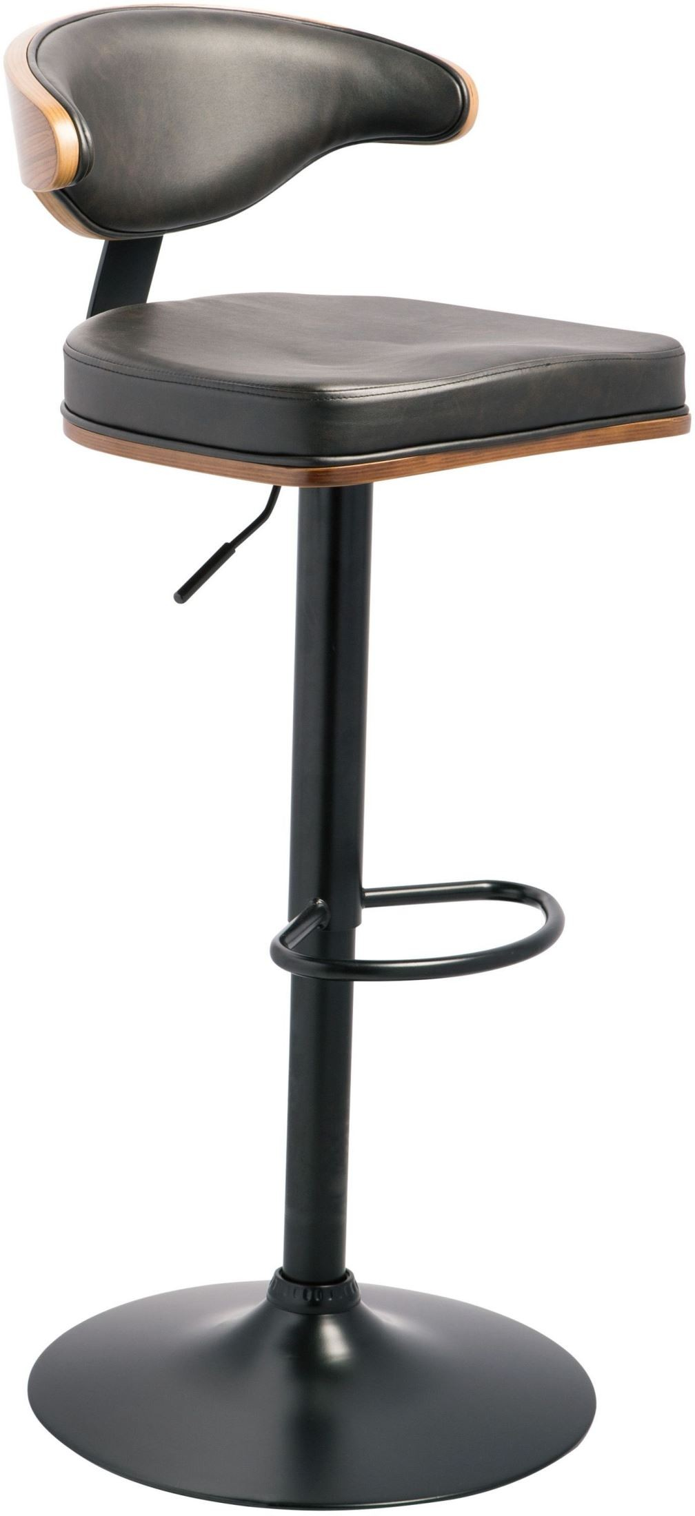 Brown And Black Tall Upholstered Swivel Barstool D120 330
