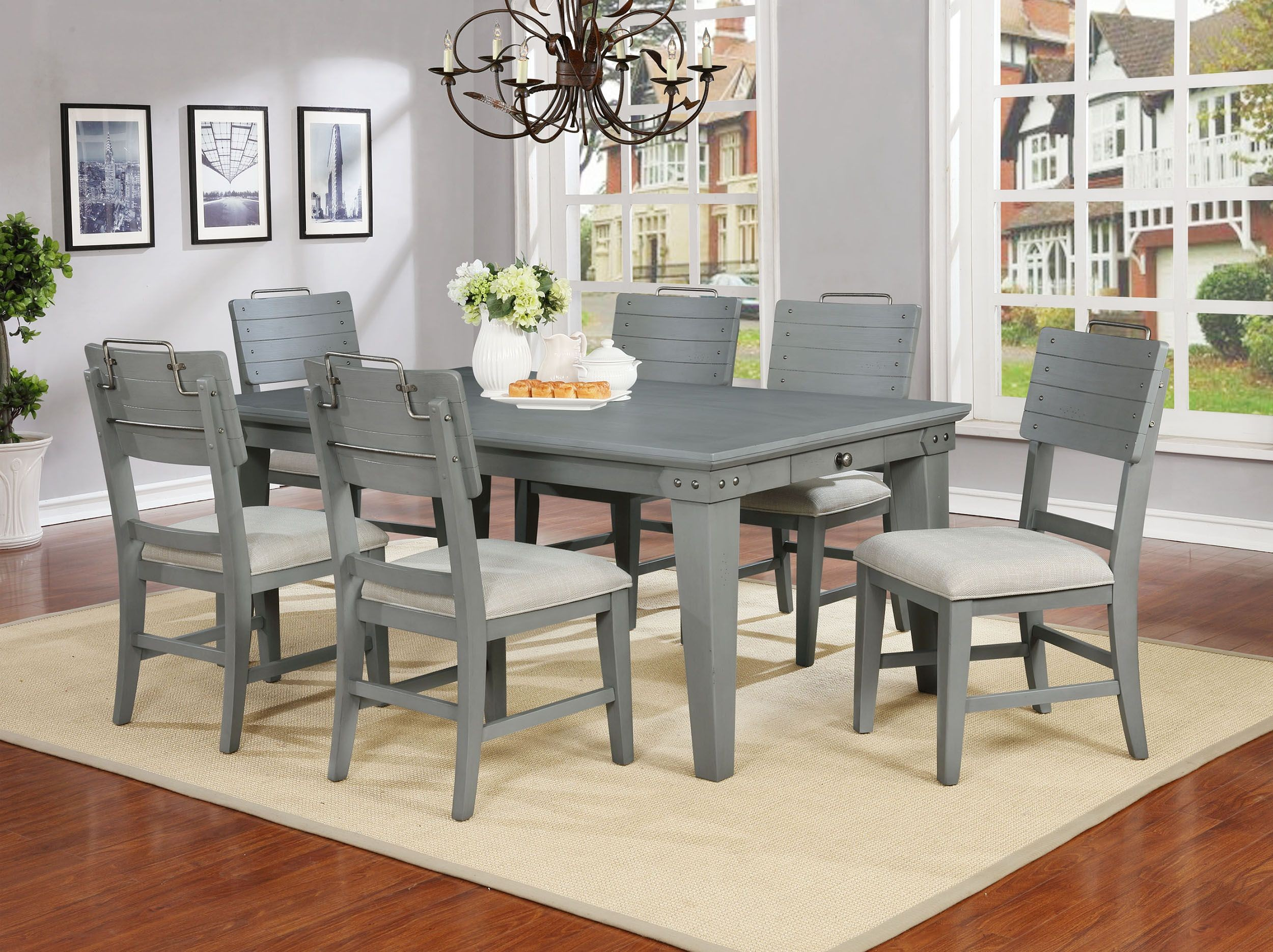 Bellville Dove Gray Counter Height Dining Room Set From