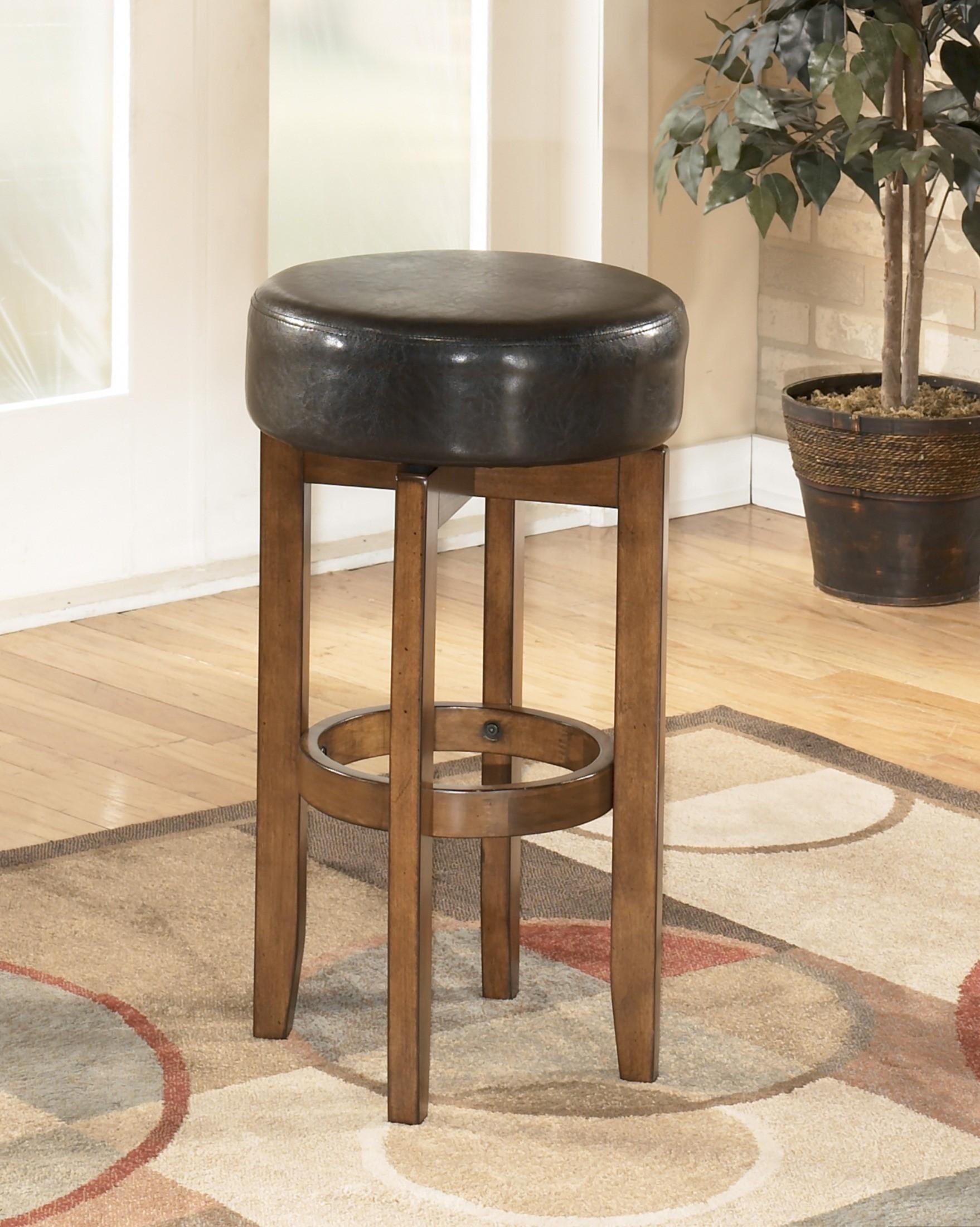 ashley furniture theo 30 inch backless swivel bar stool d158 230 stools. Black Bedroom Furniture Sets. Home Design Ideas