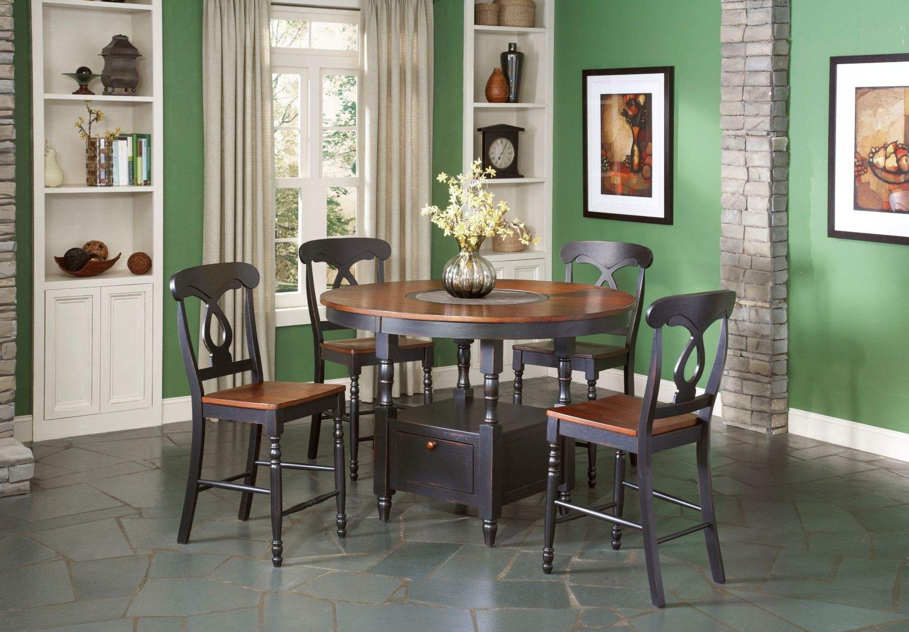 Phillip Counter Height Table w Lazy Susan from Largo D195 36
