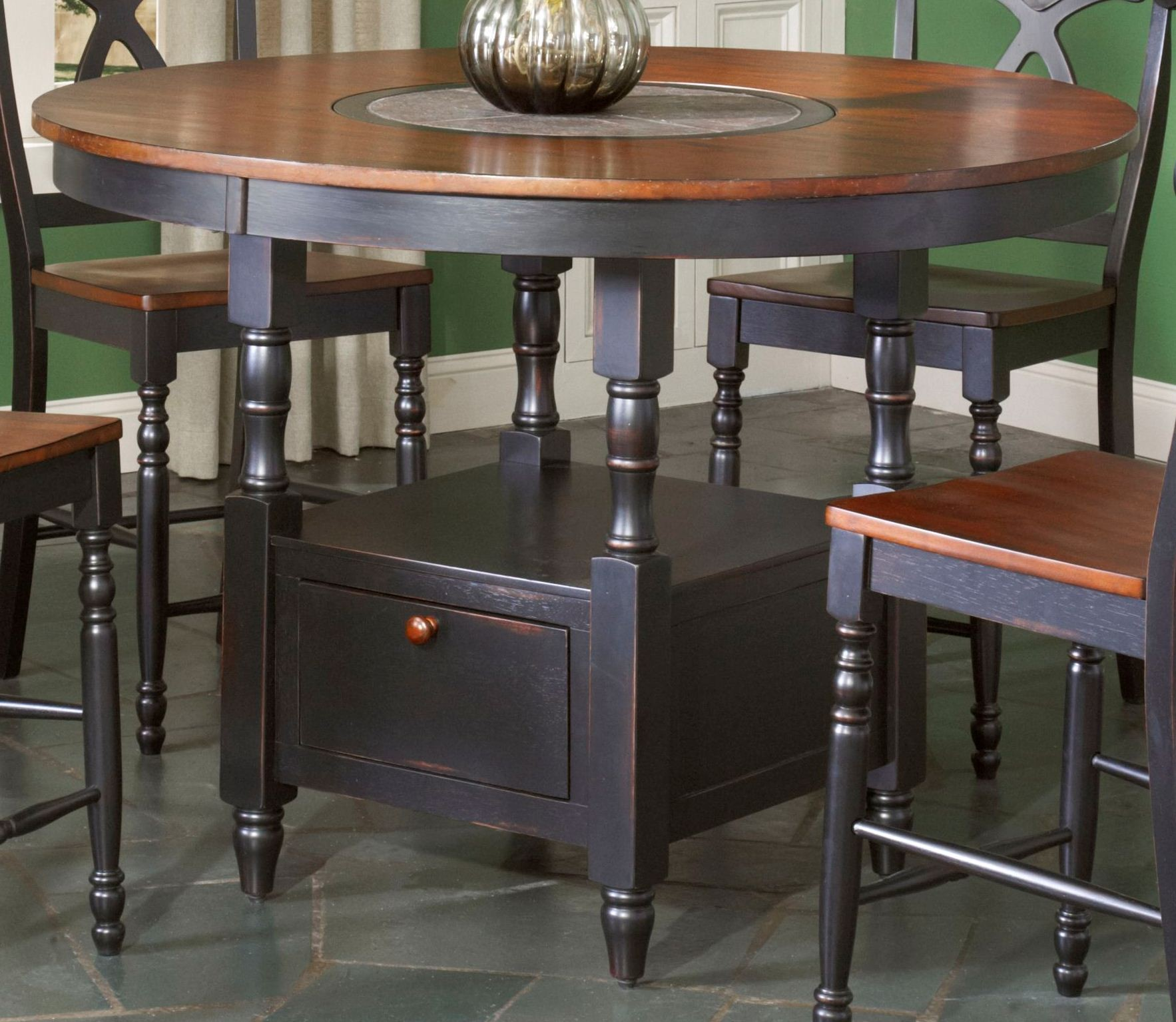 phillip counter height table w lazy susan