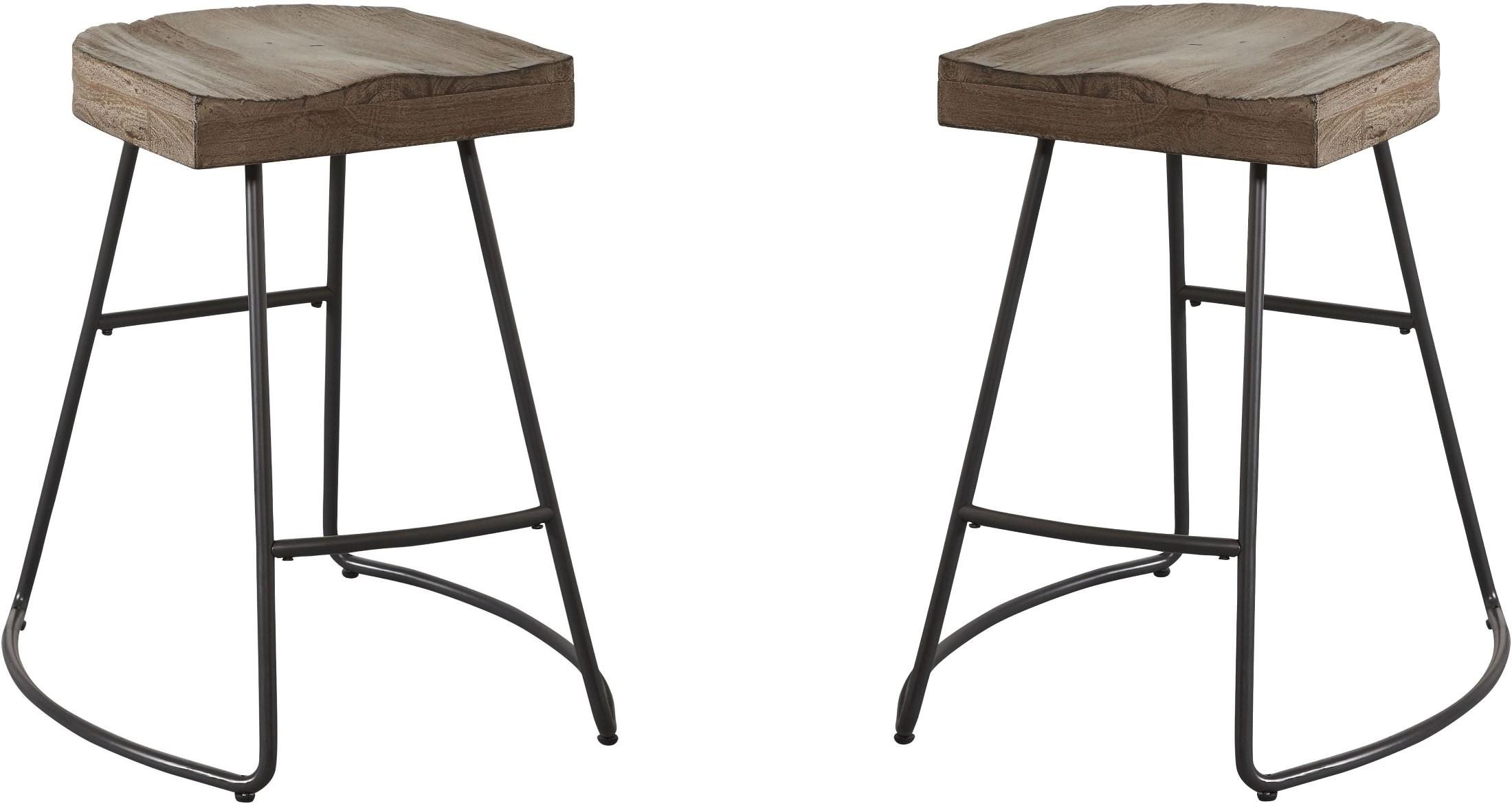 Dark Beach Counter Stool Set Of 2 From Avalon Furniture
