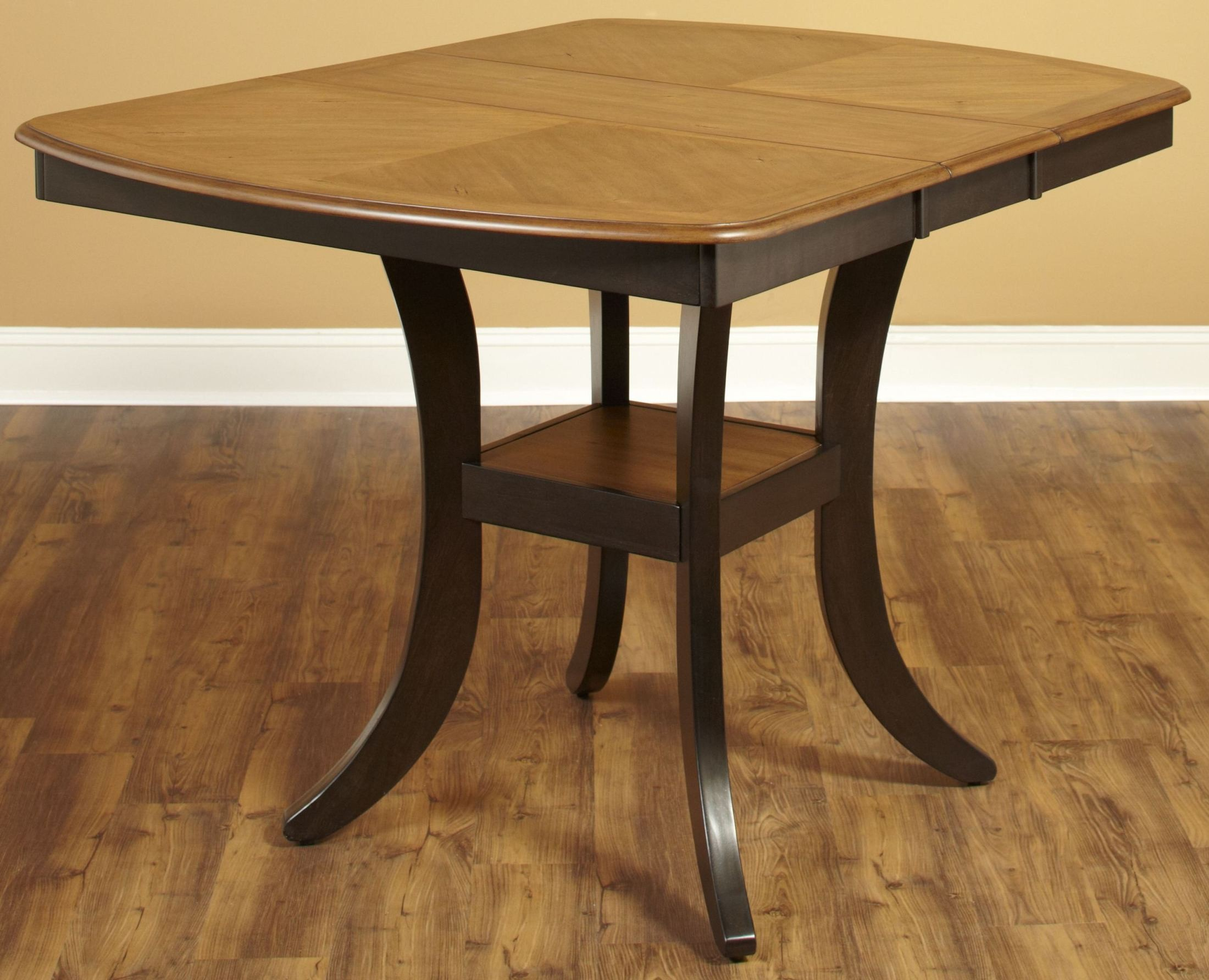 Table Height 36: Bungalow Brown Extendable Rectangular Counter Height Table