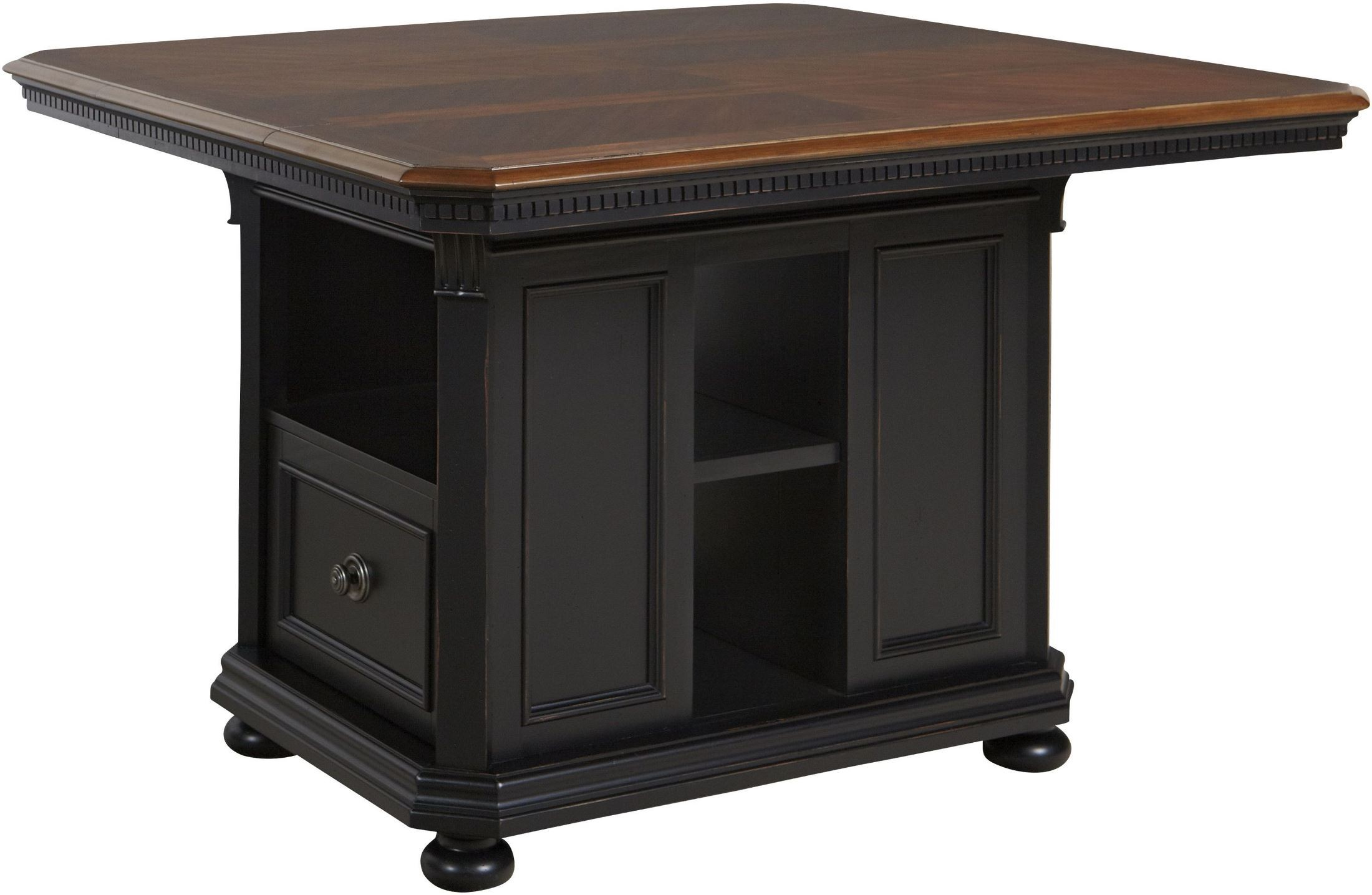 Rivington hall antique coffee kitchen island from avalon for Antique kitchen island