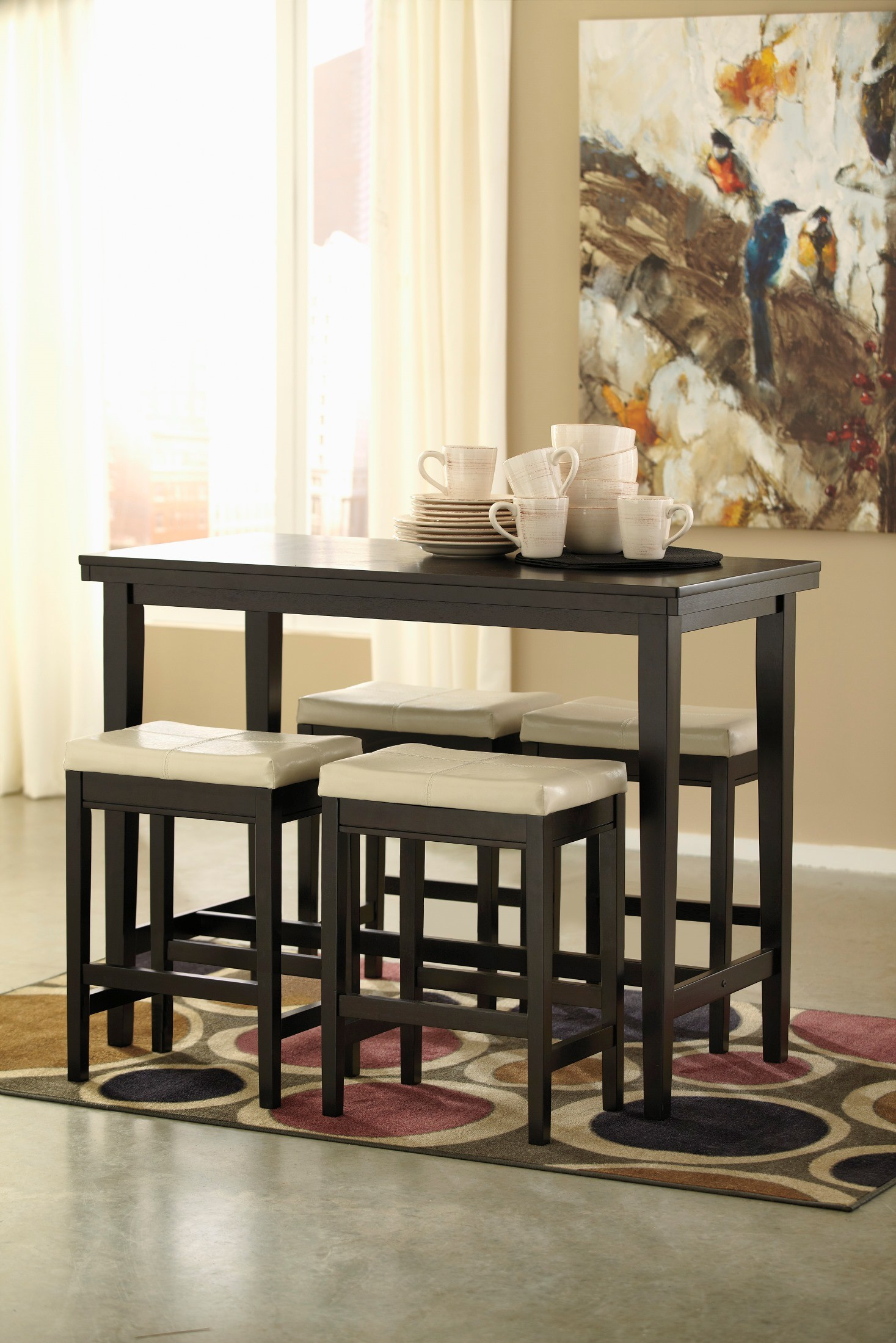 Kimonte Rectangular Dining Room Counter Height Set From