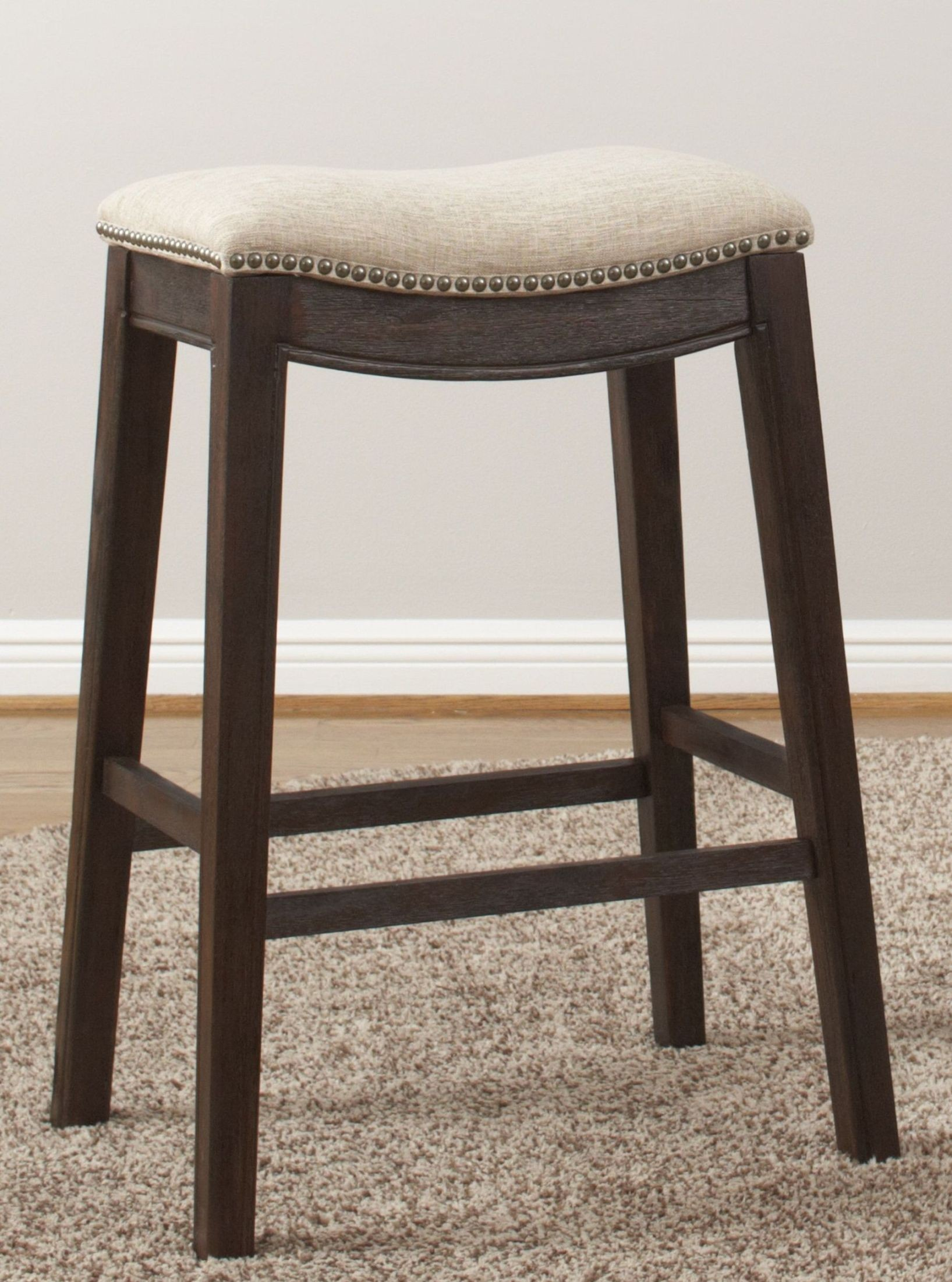 Linen 30 Quot Backless Barstool Set Of 2 From Largo Coleman