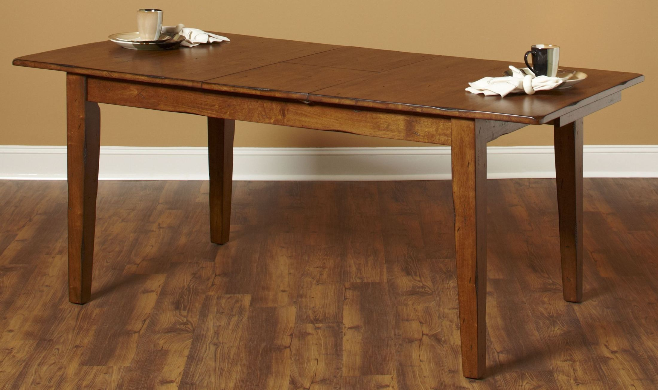 Distressed White Oak Dining Chairs: Overland Distressed Oak Extendable Rectangular Dining