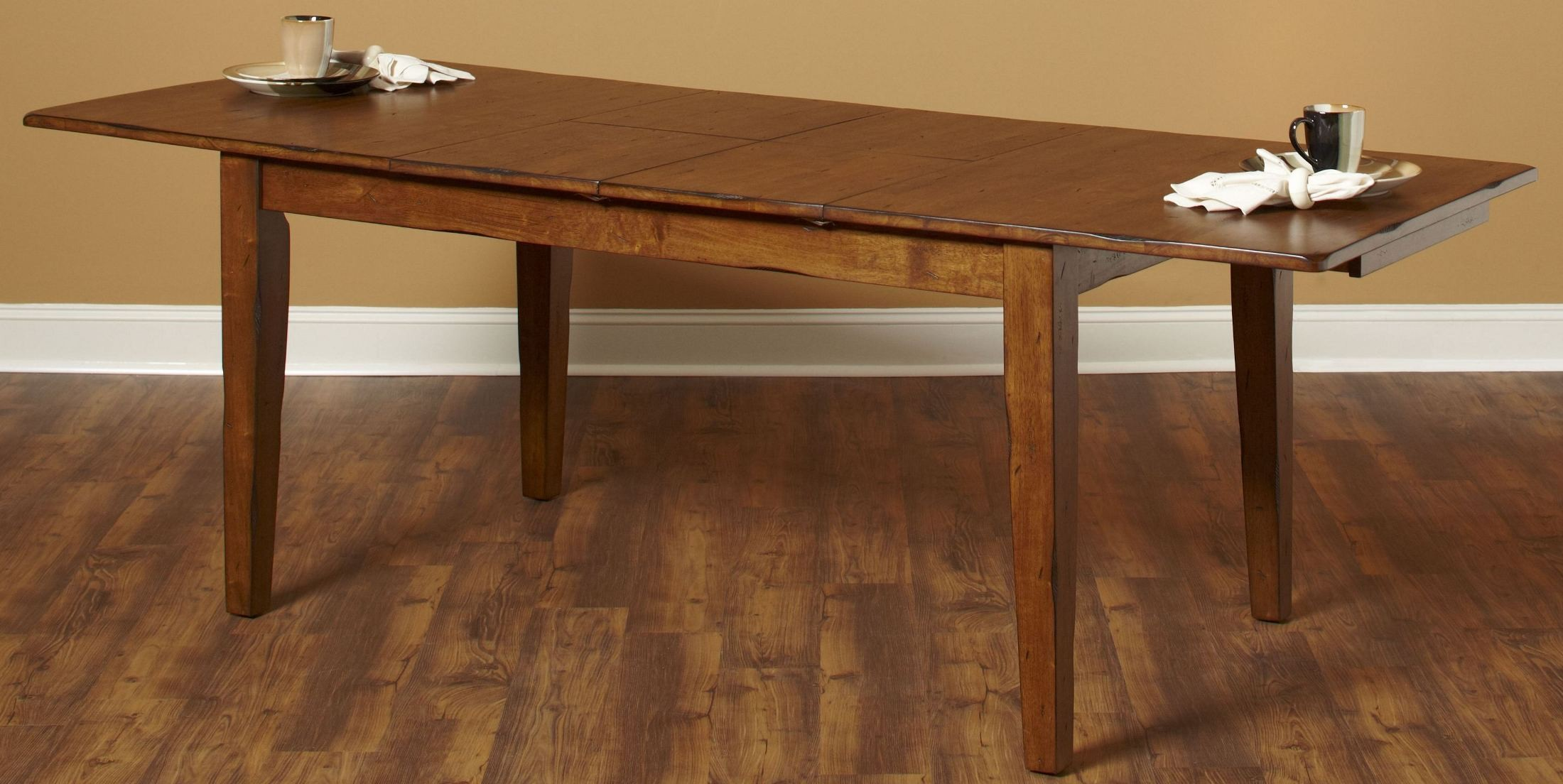 Distressed White Oak Dining Chairs: Overland Distressed Oak Extendable Rectangular Dining Room