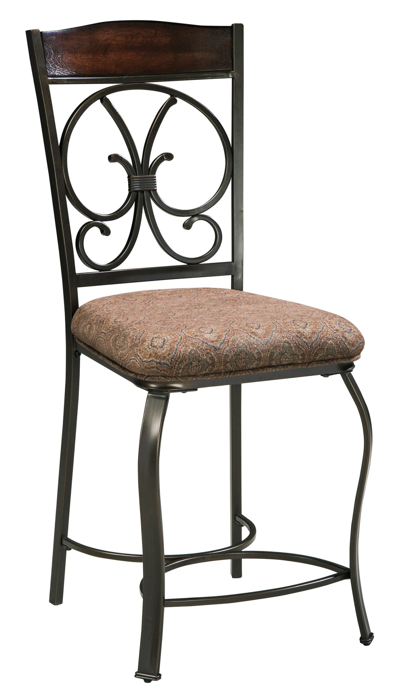 glambrey upholstered counter stool set of 4 from ashley
