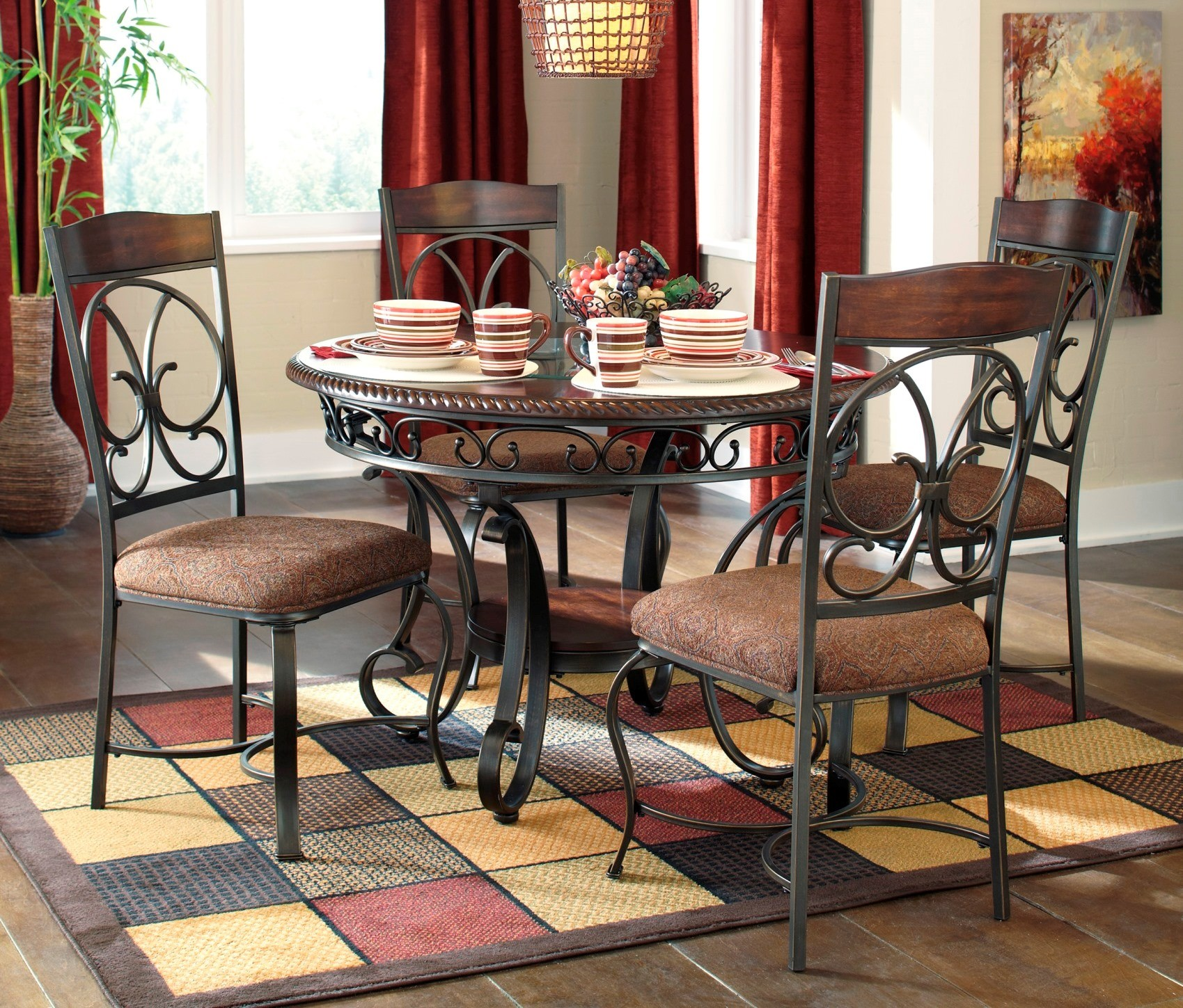 Dining Set Round: Glambrey Round Dining Room Set From Ashley (D329-15