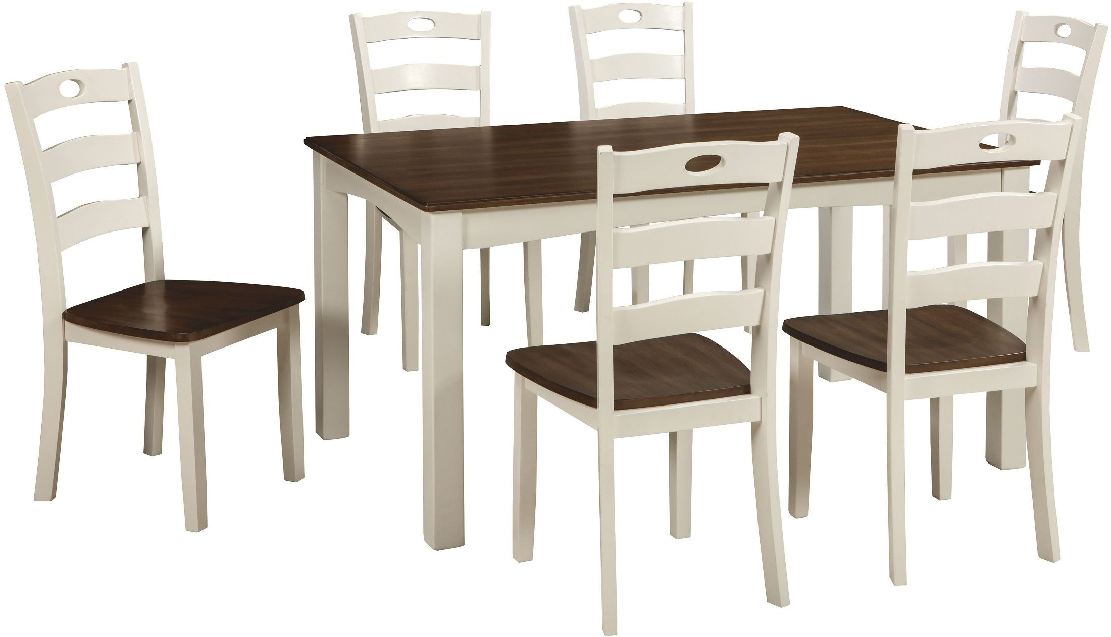 Woodanville White and Brown 7 Piece Dining Room Set from ...