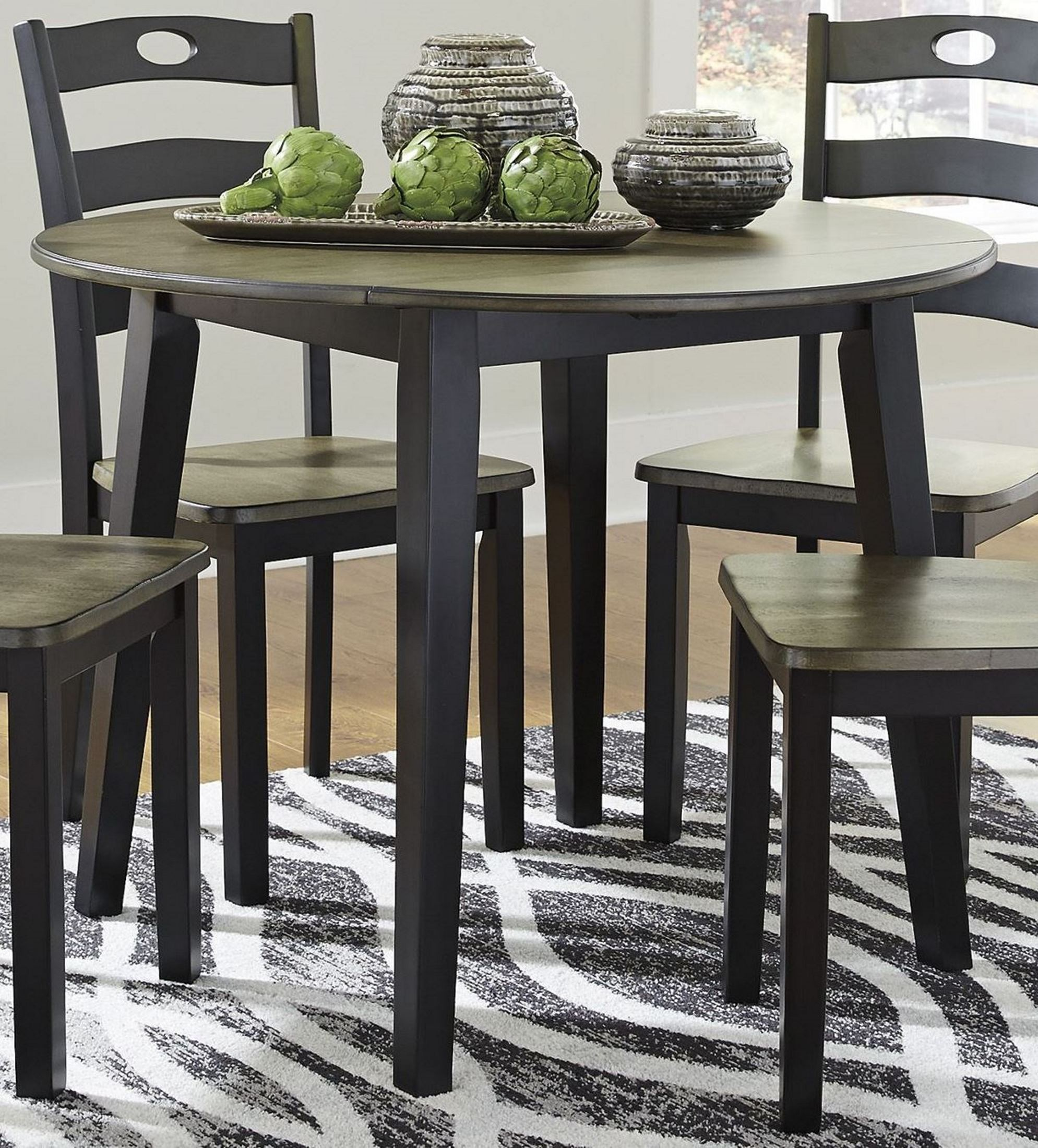 Merveilleux X. Froshburg Grayish Brown Round Dining Table