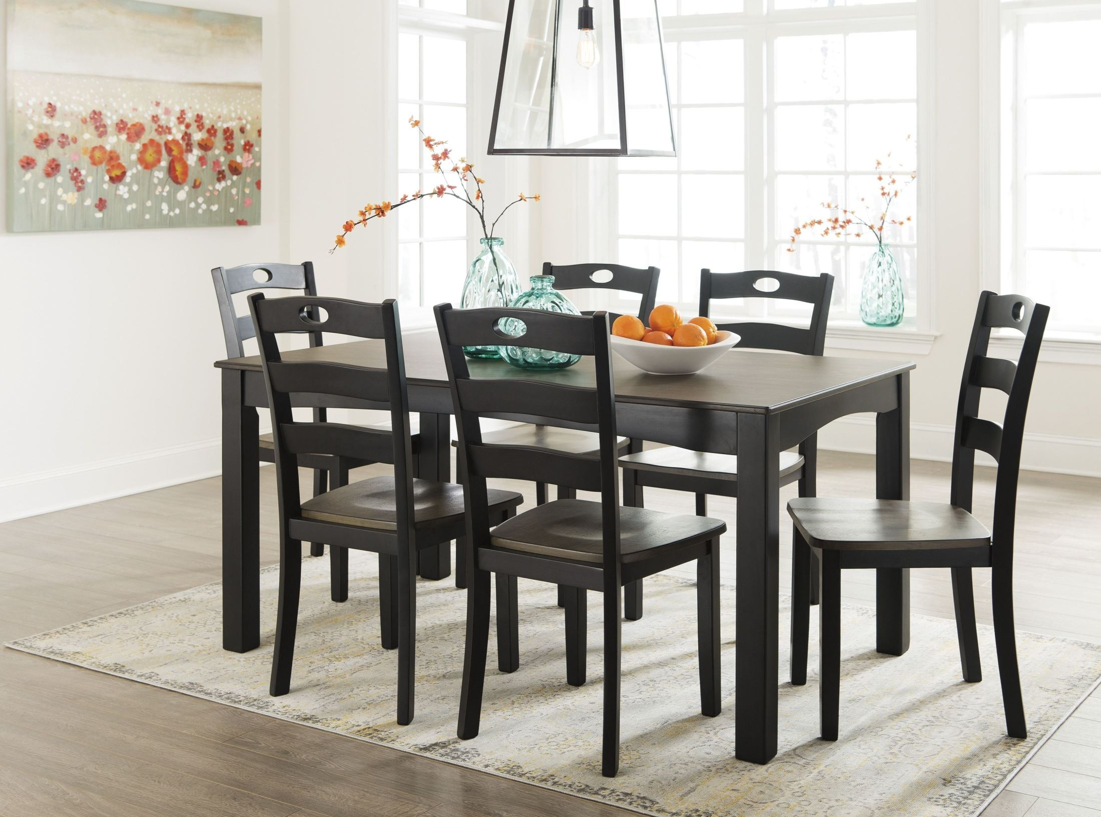 Froshburg 7 Pcs Grayish Brown Dining Room Set From Ashley | Coleman  Furniture