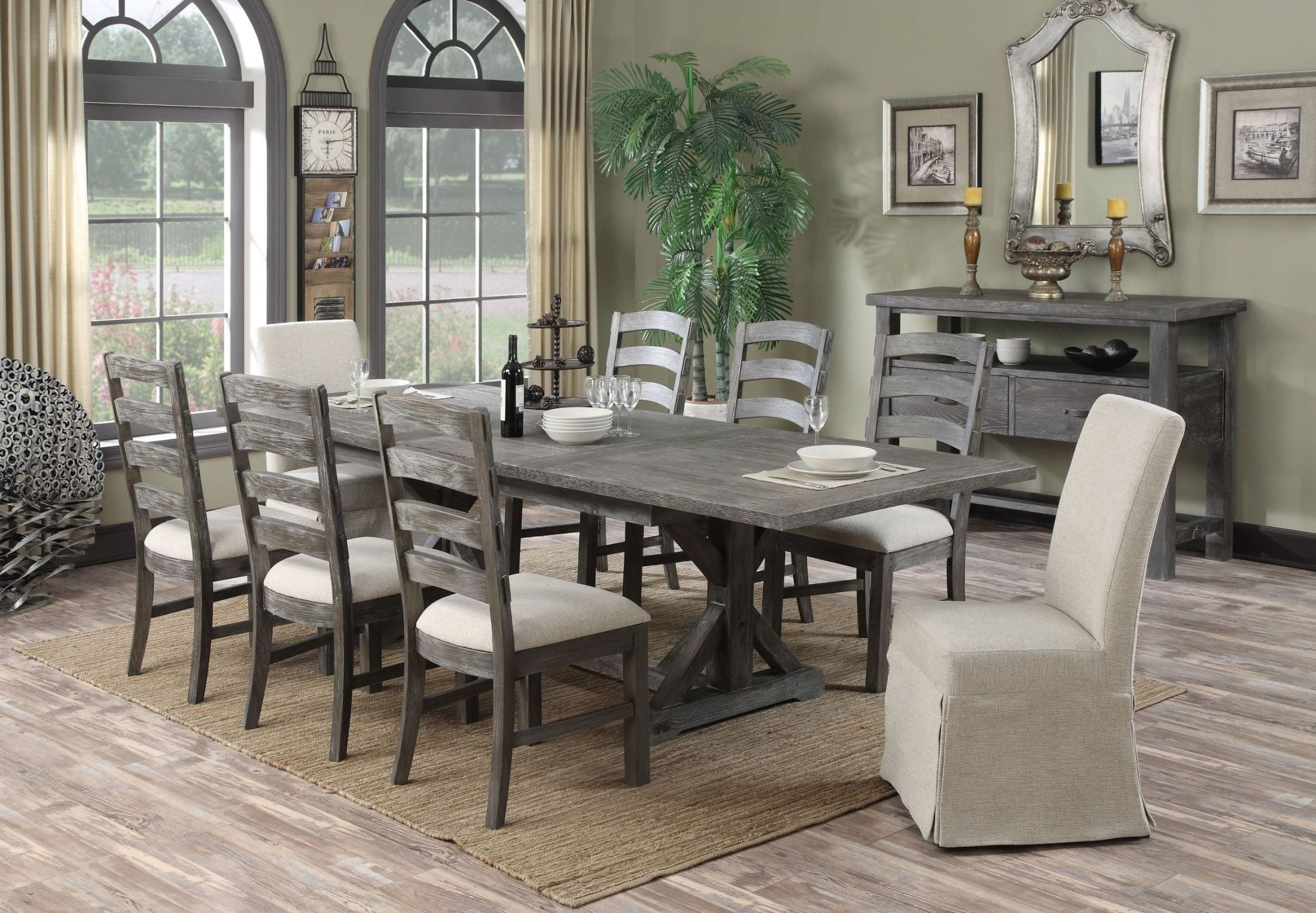 Paladin Rustic Charcoal Dining Room Set From Emerald Home | Coleman  Furniture