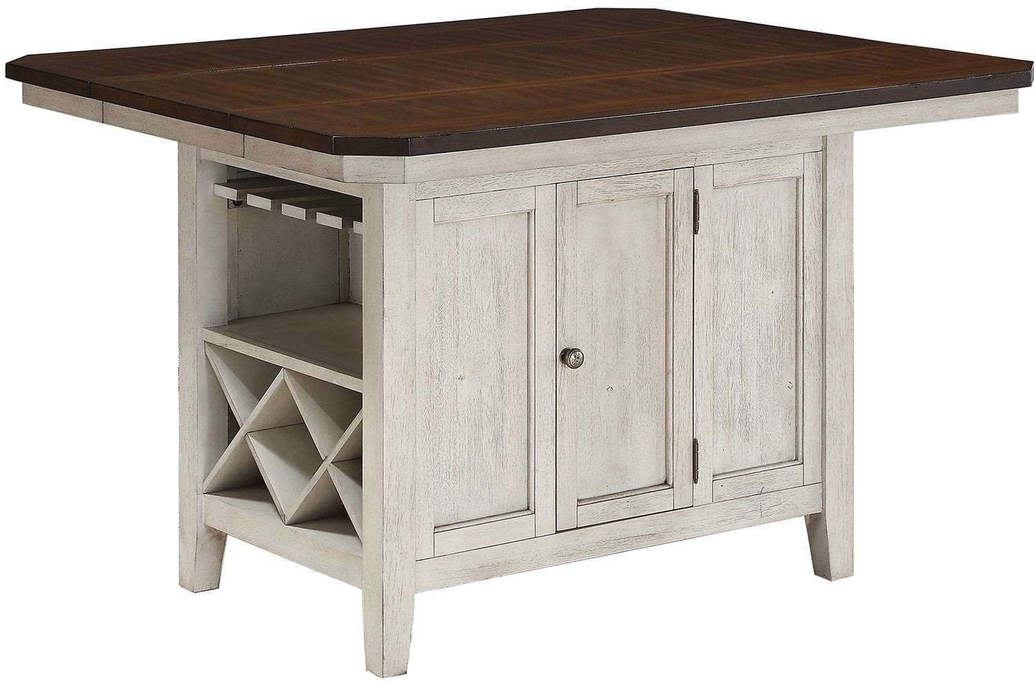 Newport Washed White Kitchen Island From Avalon Furniture