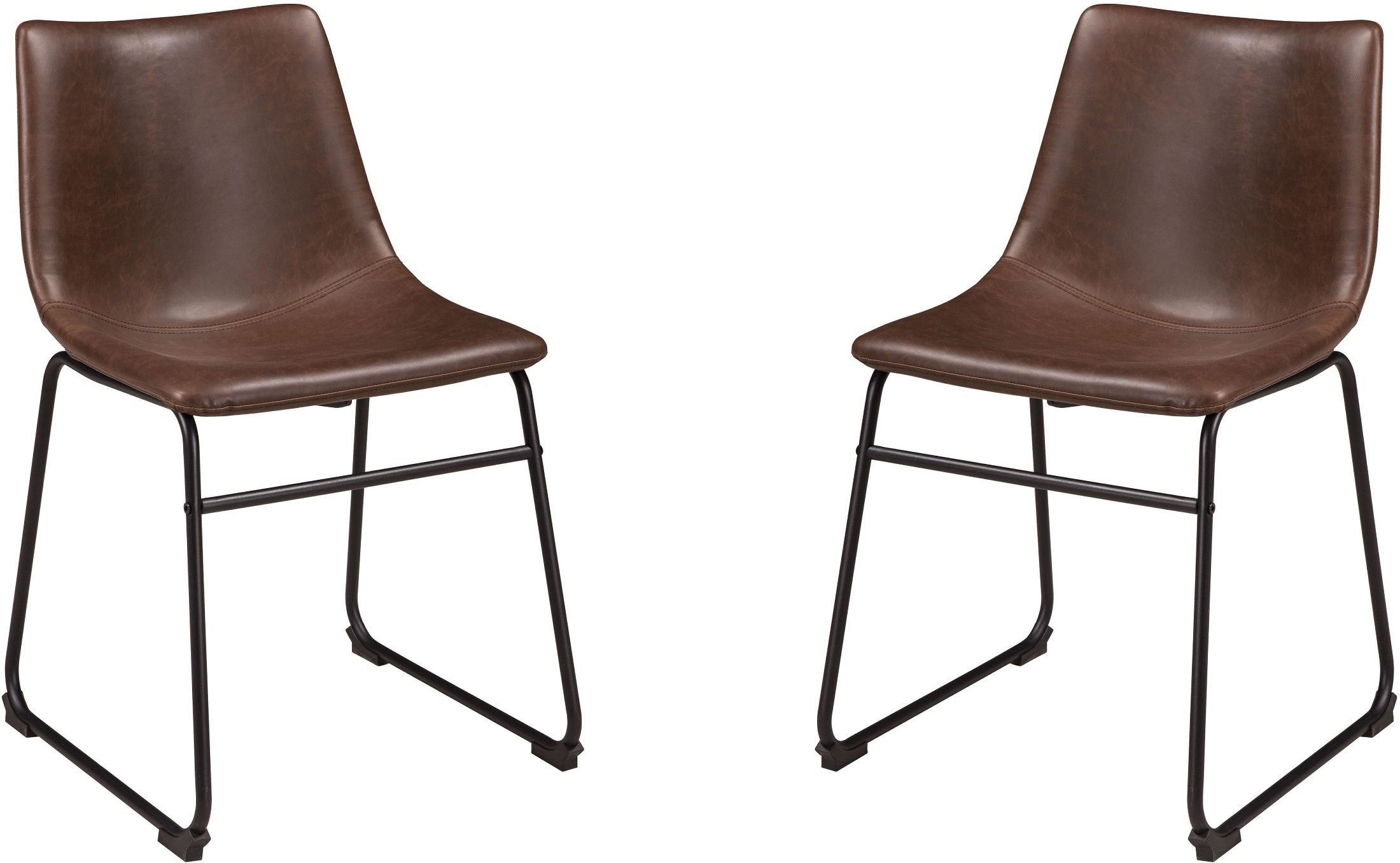 Centiar Brown And Black Dining Upholstered Side Chair Set