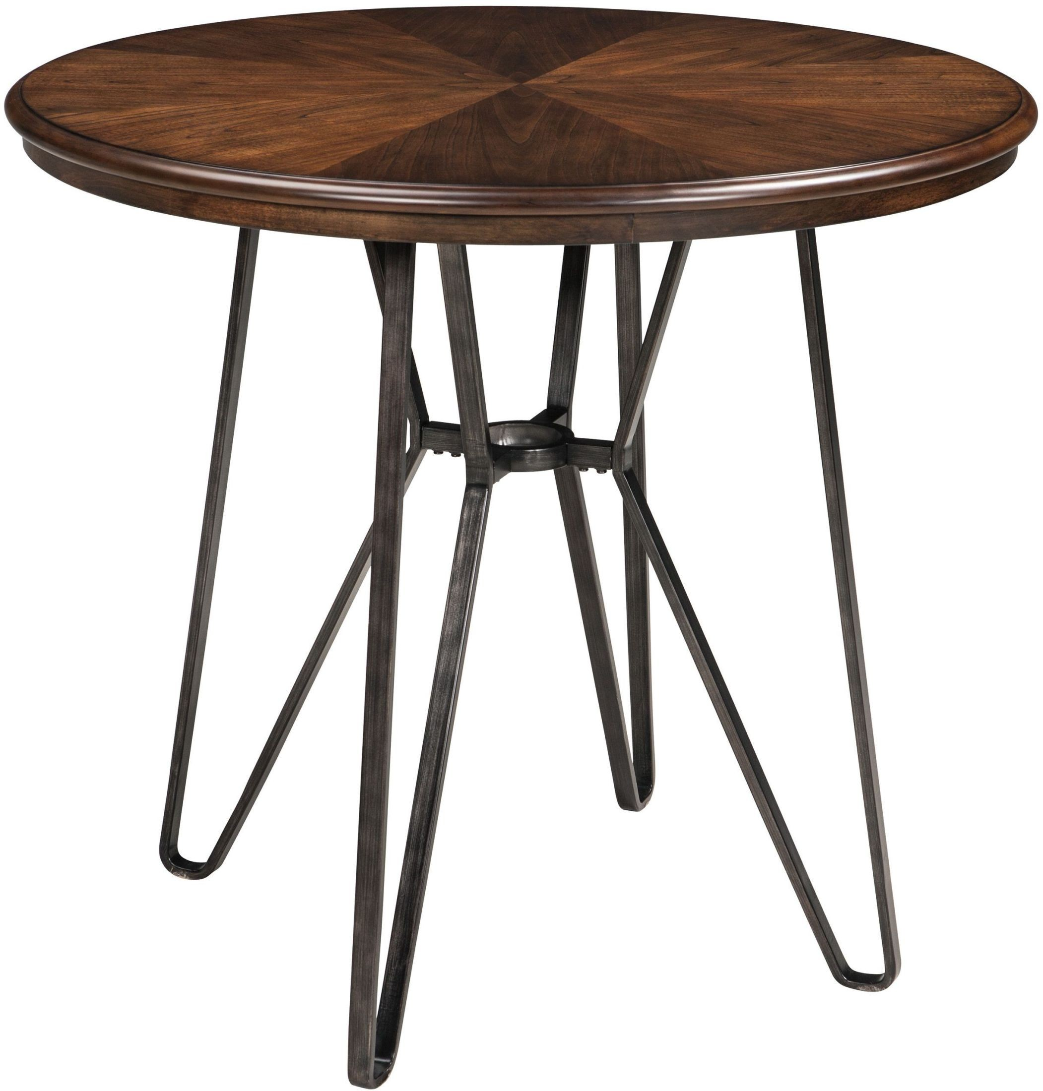 Illinois Modern Two Tone Large Round Dining Table With 8: Centiar Two-Tone Brown Round Counter Height Dining Table