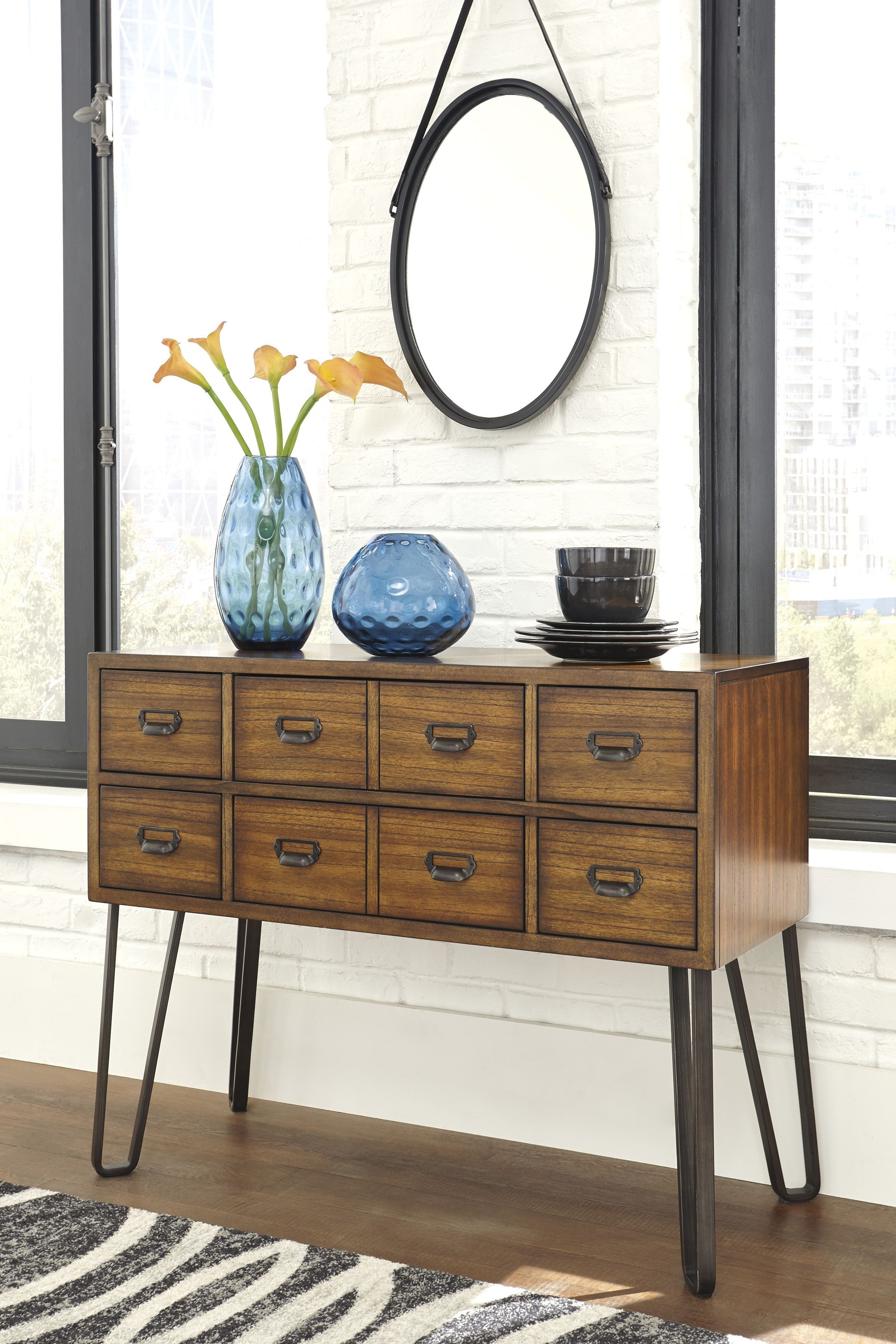 Centiar Two Tone Brown Dining Room Server From Ashley Coleman Furniture