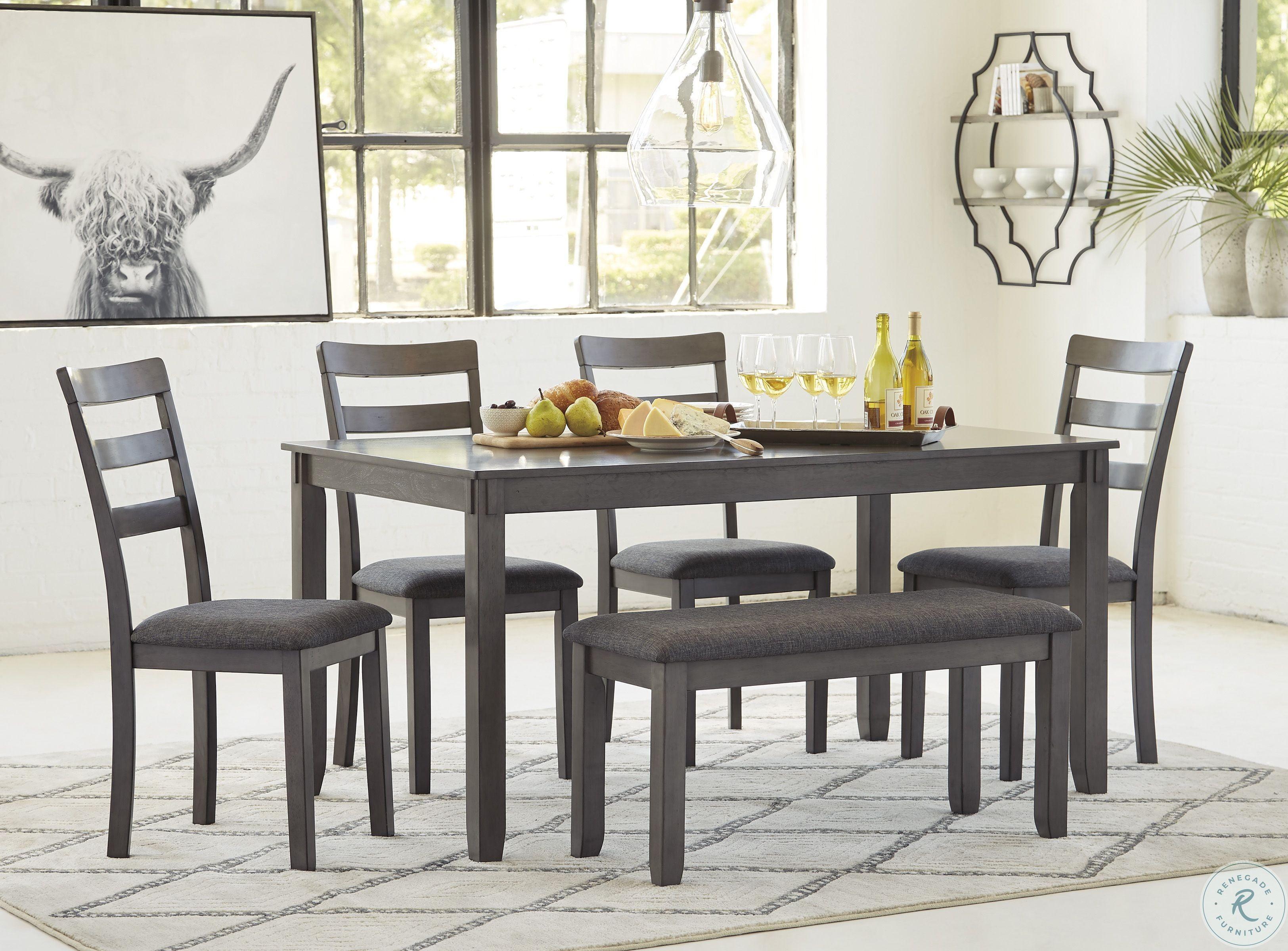 Bridson Gray 6 Piece Rectangular Dining Room Set