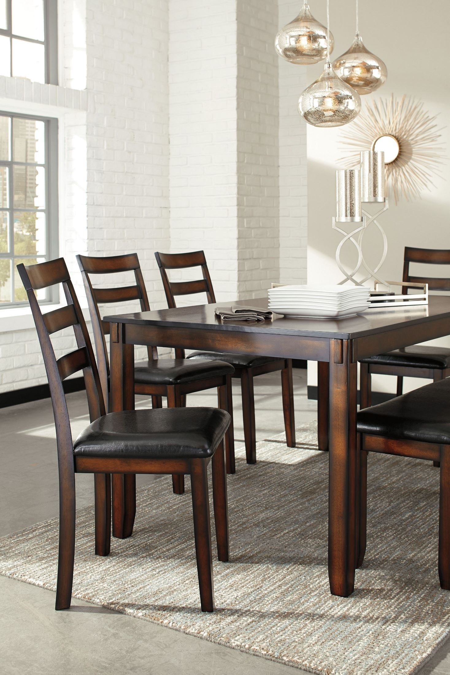 Coviar Brown 6 Piece Dining Room Set, D385-325, Ashley