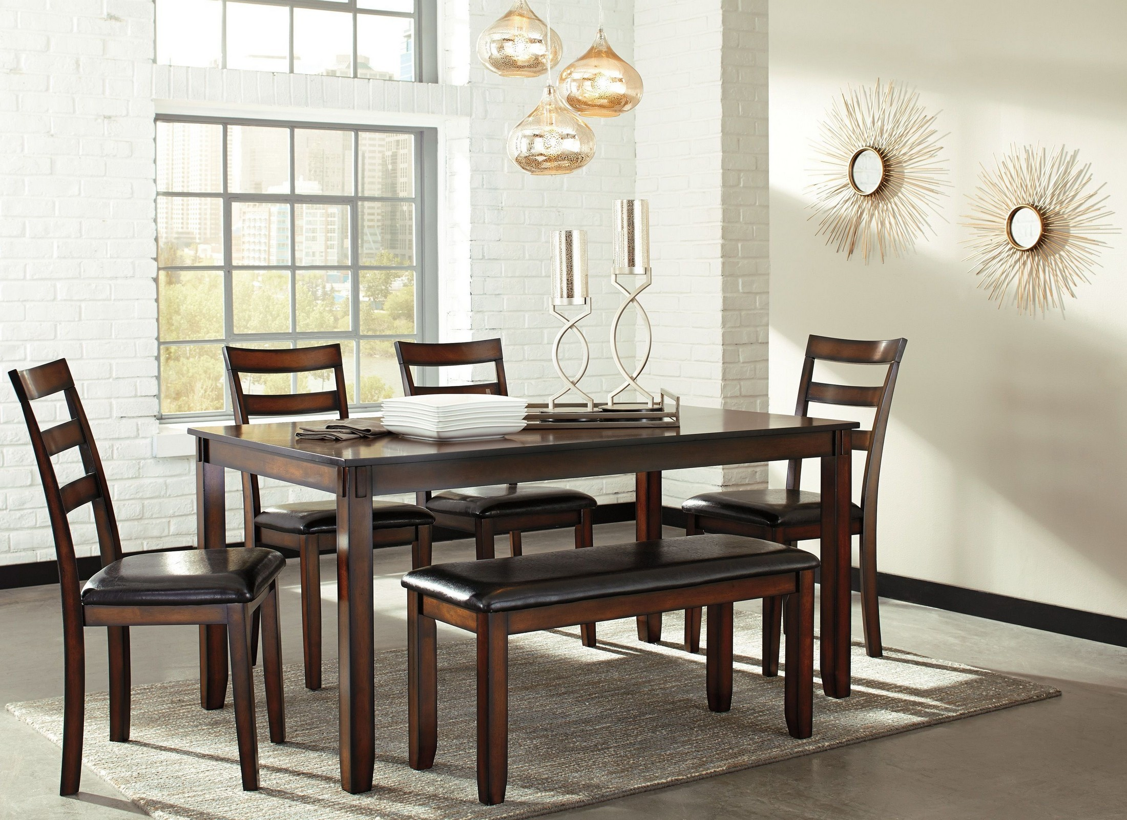 Coviar brown 6 piece dining room set from ashley coleman for 6 piece dining room set