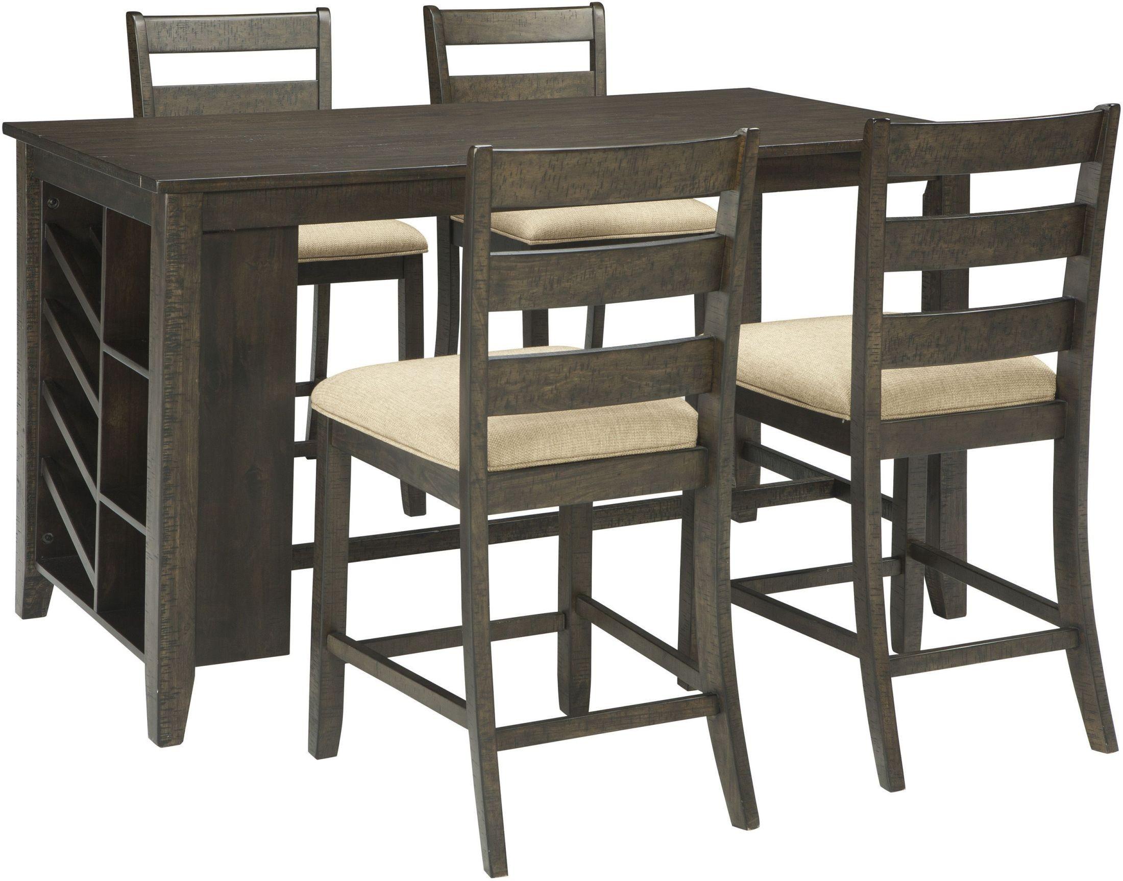 Rokane Light Brown Rectangular Counter Height Dining Room  : d397 32 1244 sw2 from colemanfurniture.com size 2200 x 1725 jpeg 467kB