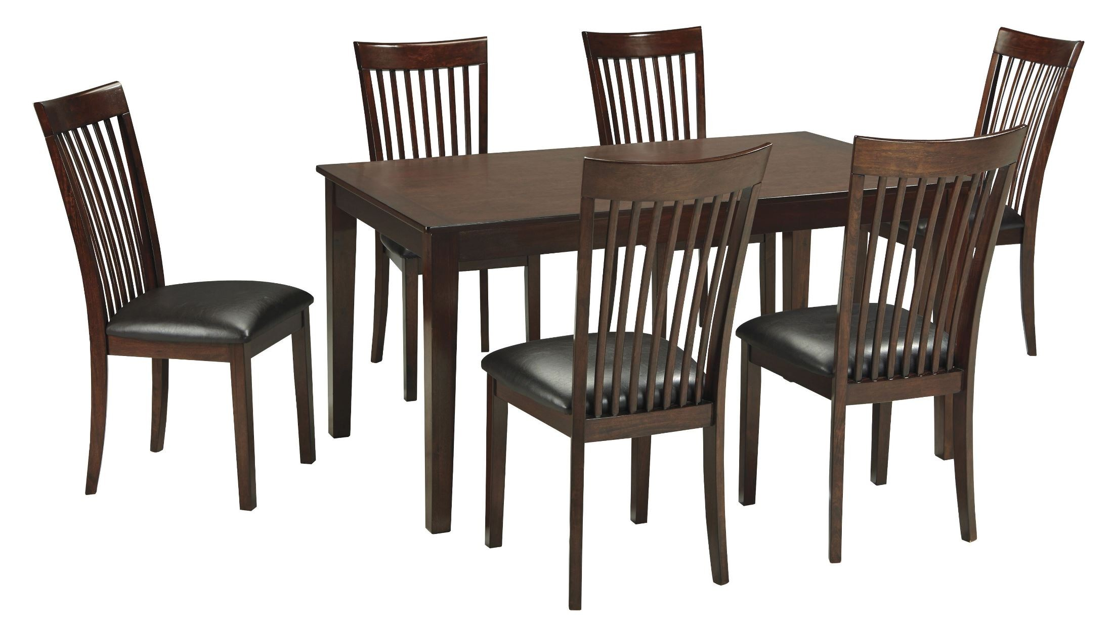 Mallenton medium brown 7 piece dining room set from ashley for Brown dining room set