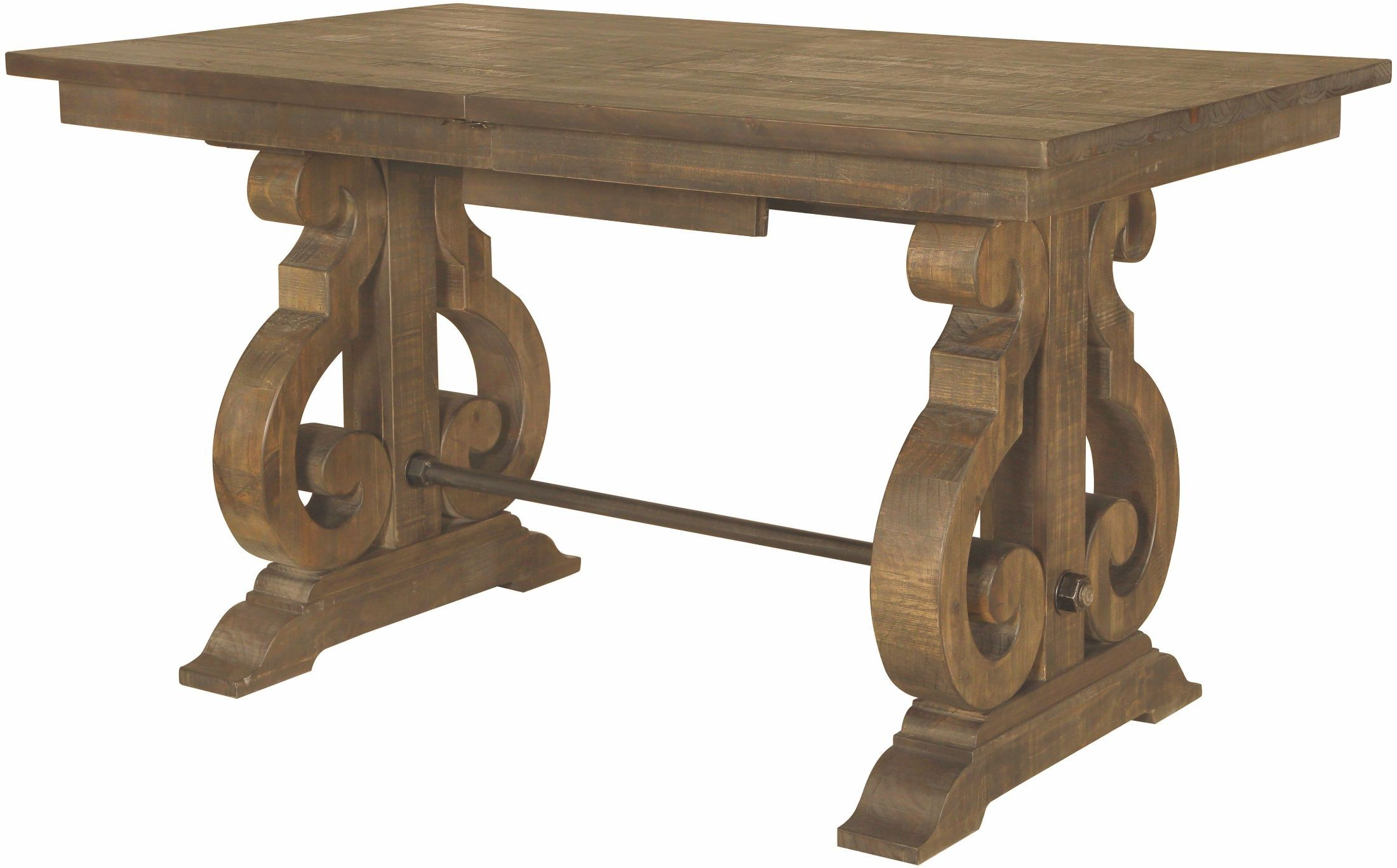 Willoughby weathered barley counter height extendable for Table 4 en 1 intersport