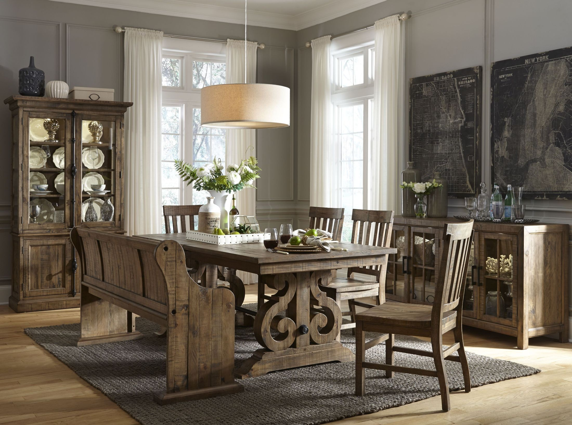 Willoughby Weathered Barley Rectangular Extendable Dining