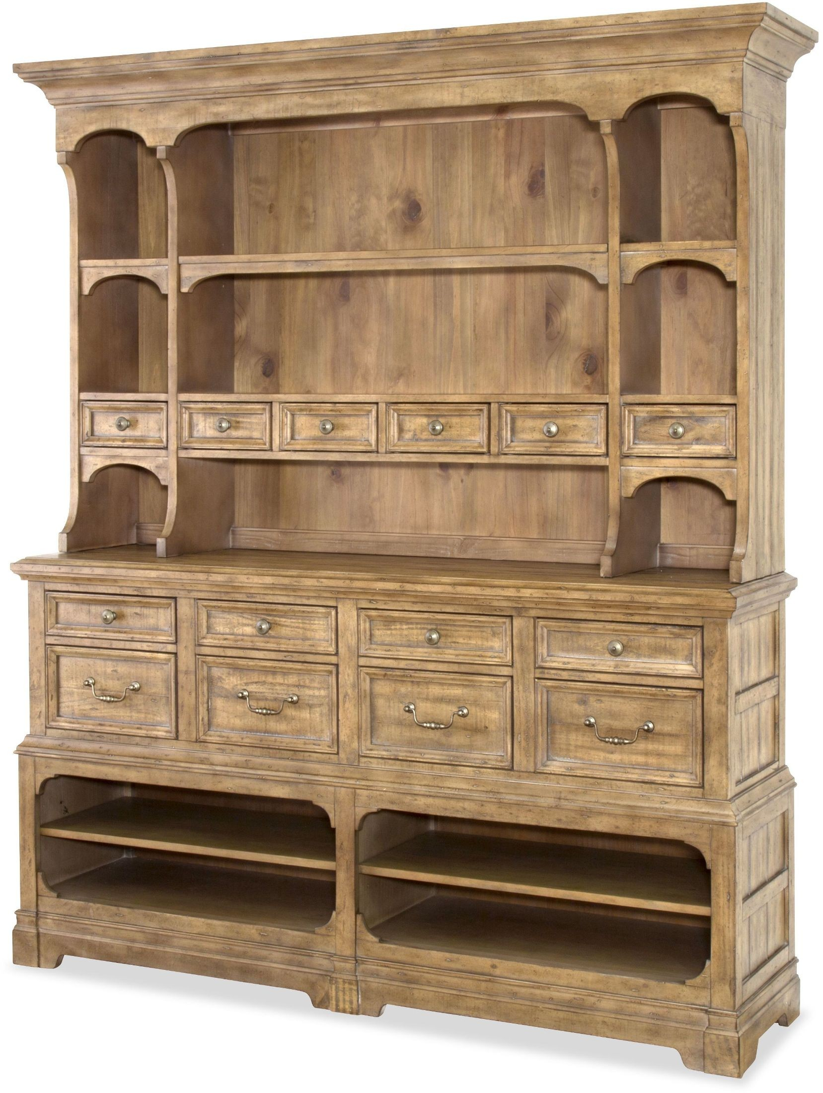 Graham hills cracked wheat sideboard with hutch from for Sideboard hoch
