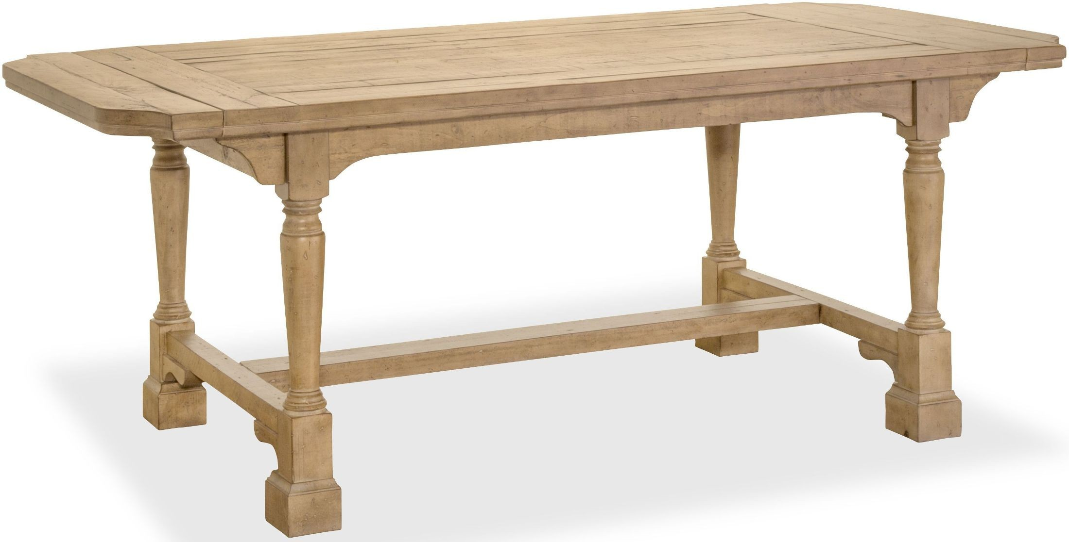 Graham Hills Cracked Wheat Extendable Rectangular Dining Table