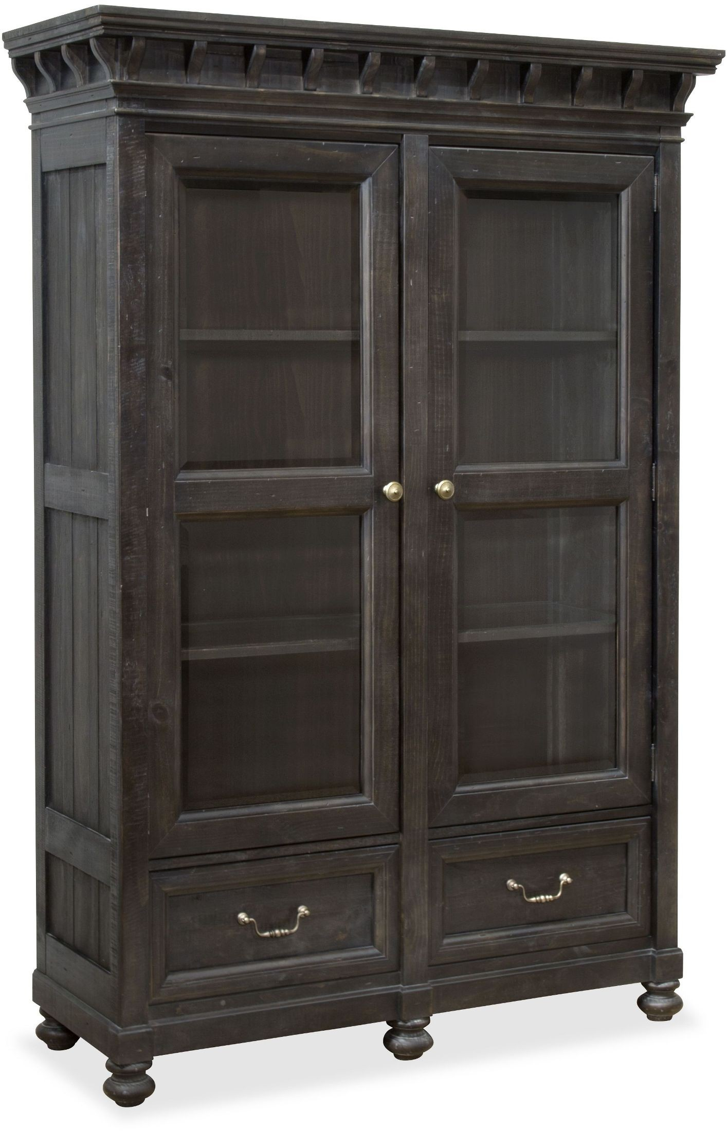 Bedford Corners Anvil Black China Cabinet From Magnussen