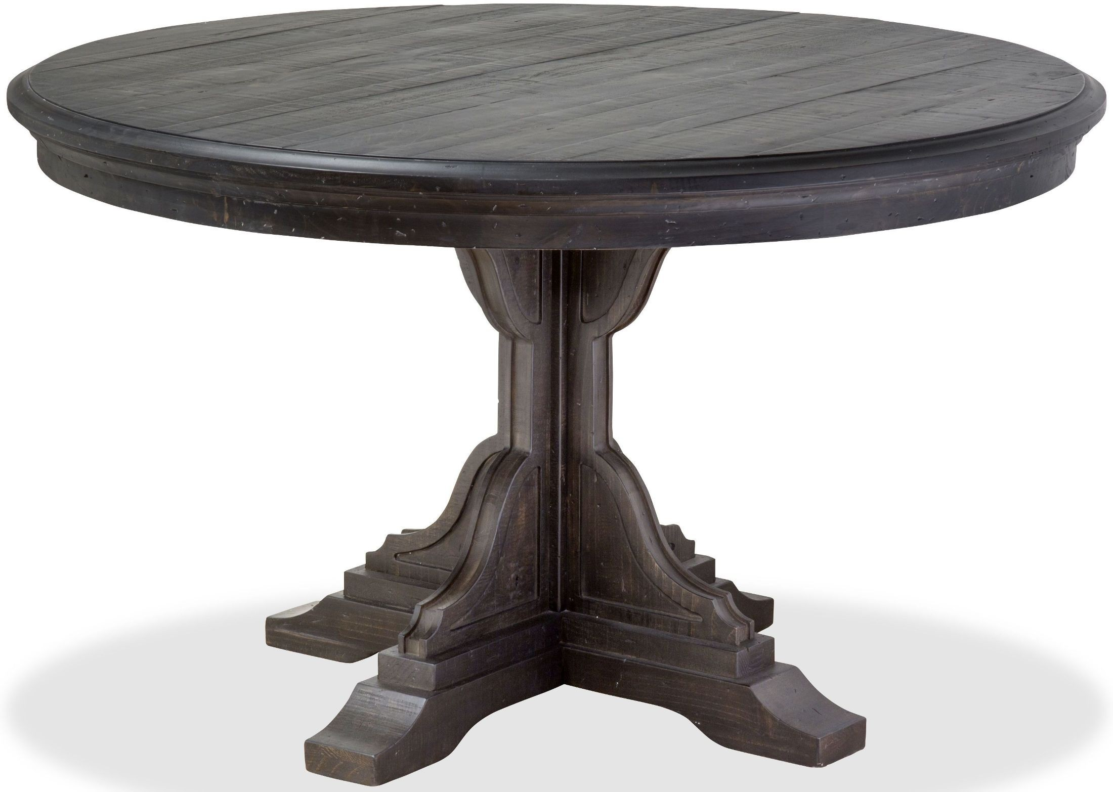 Bedford Corners Anvil Black Round Dining Table from Magnussen Home