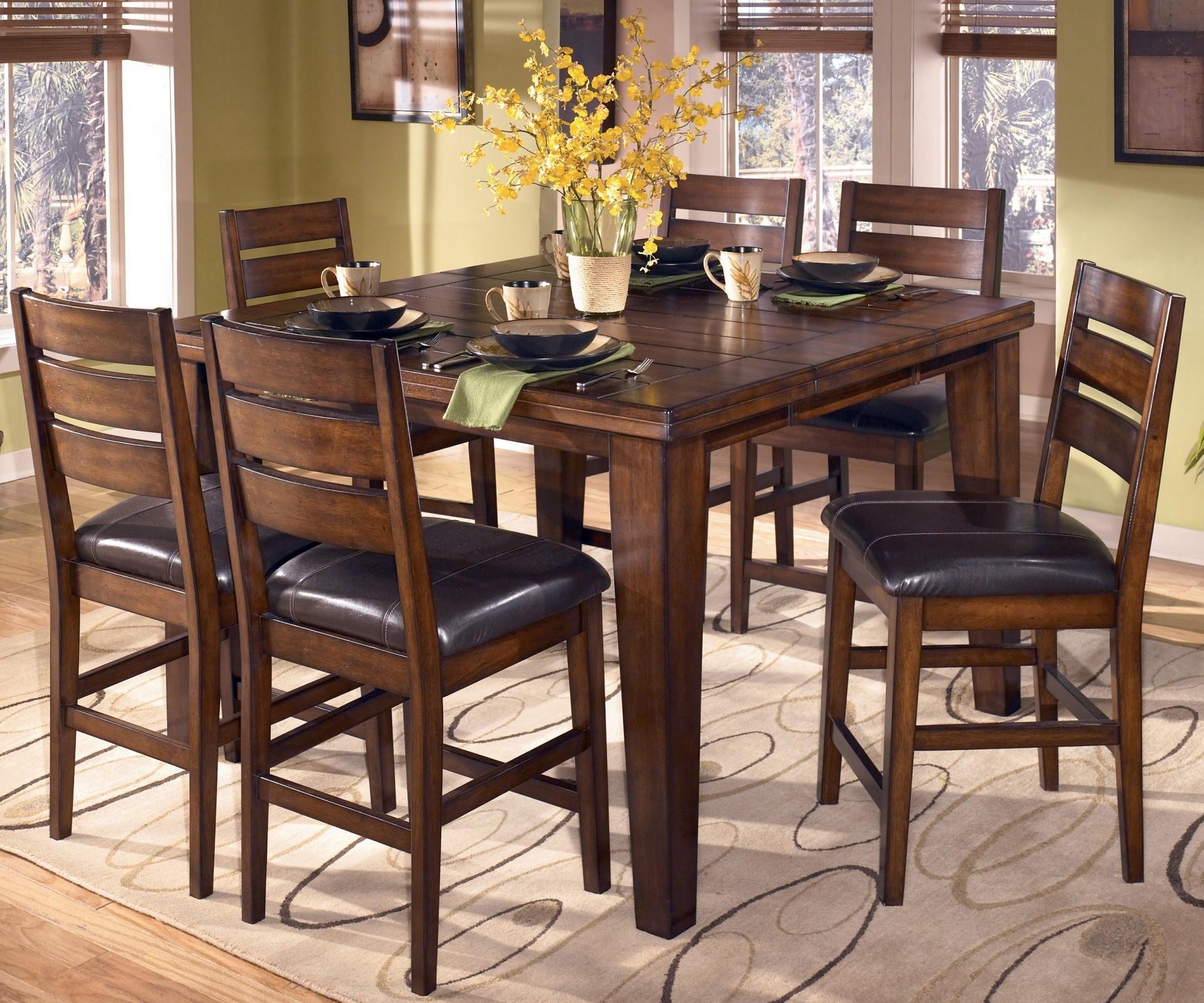 Larchmont Pub Table Set From Ashley D442 32 Coleman