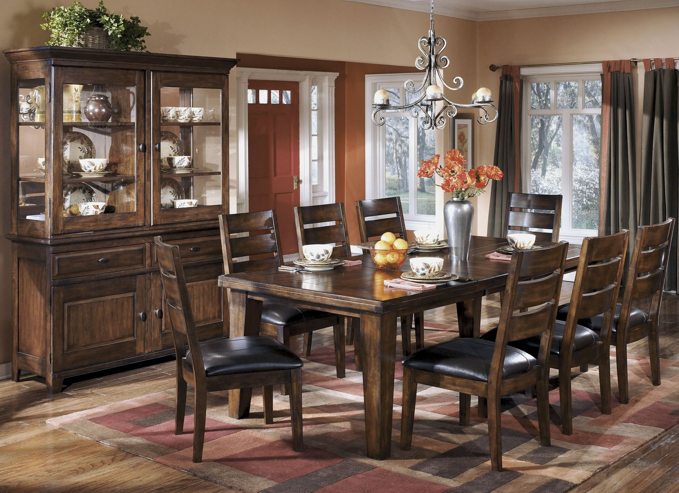 Larchmont Extendable Dining Room Set from Ashley (D442-45 ...