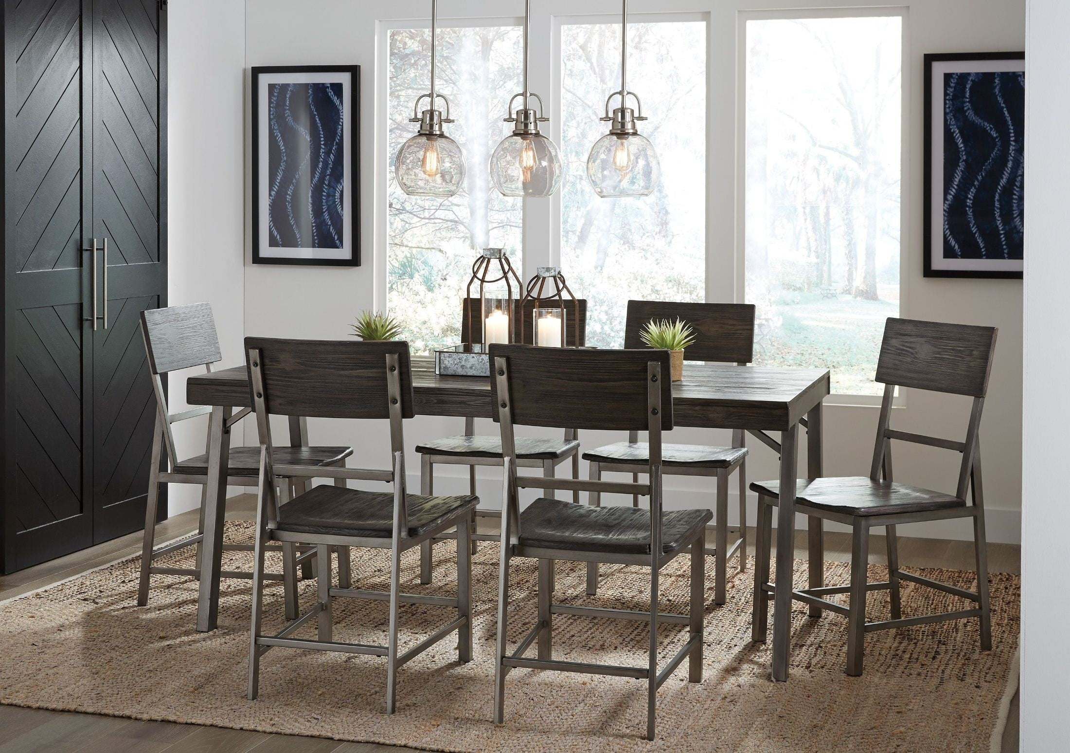 Raventown grayish brown rectangular dining room set from ashley raventown grayish brown rectangular dining room set dzzzfo