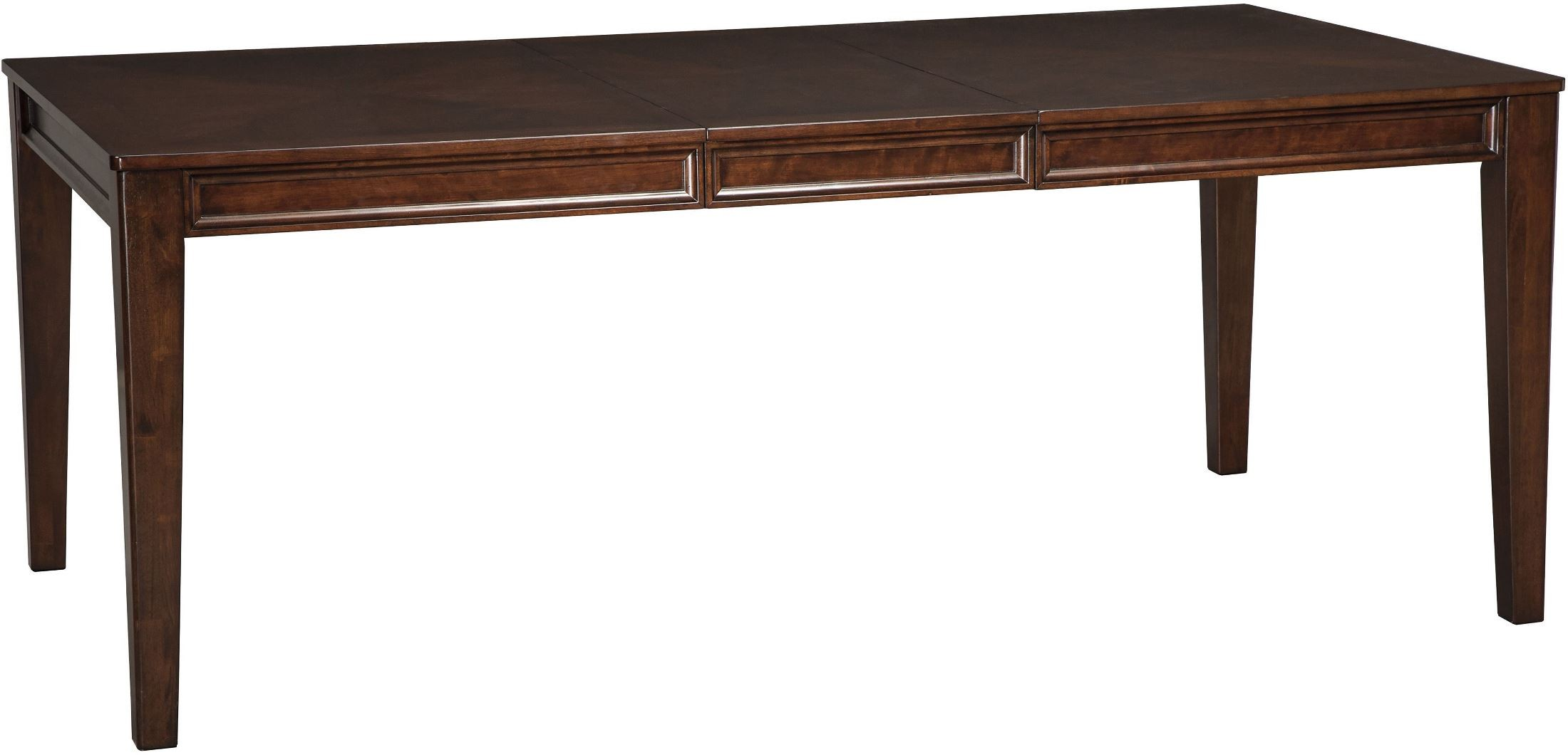 shadyn brown rectangular extendable dining table from