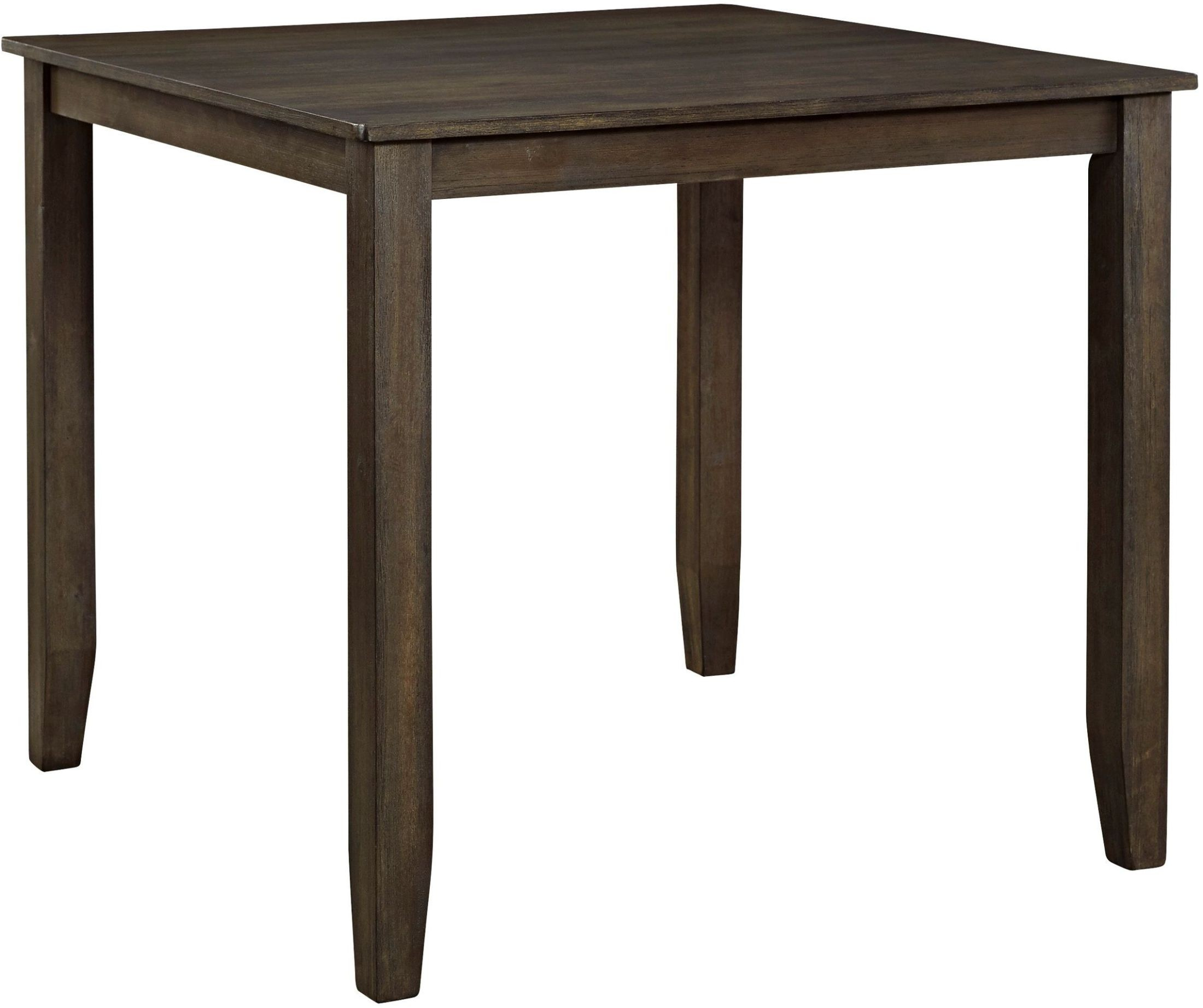 dresbar grayish brown square counter height dining table from ashley coleman furniture. Black Bedroom Furniture Sets. Home Design Ideas