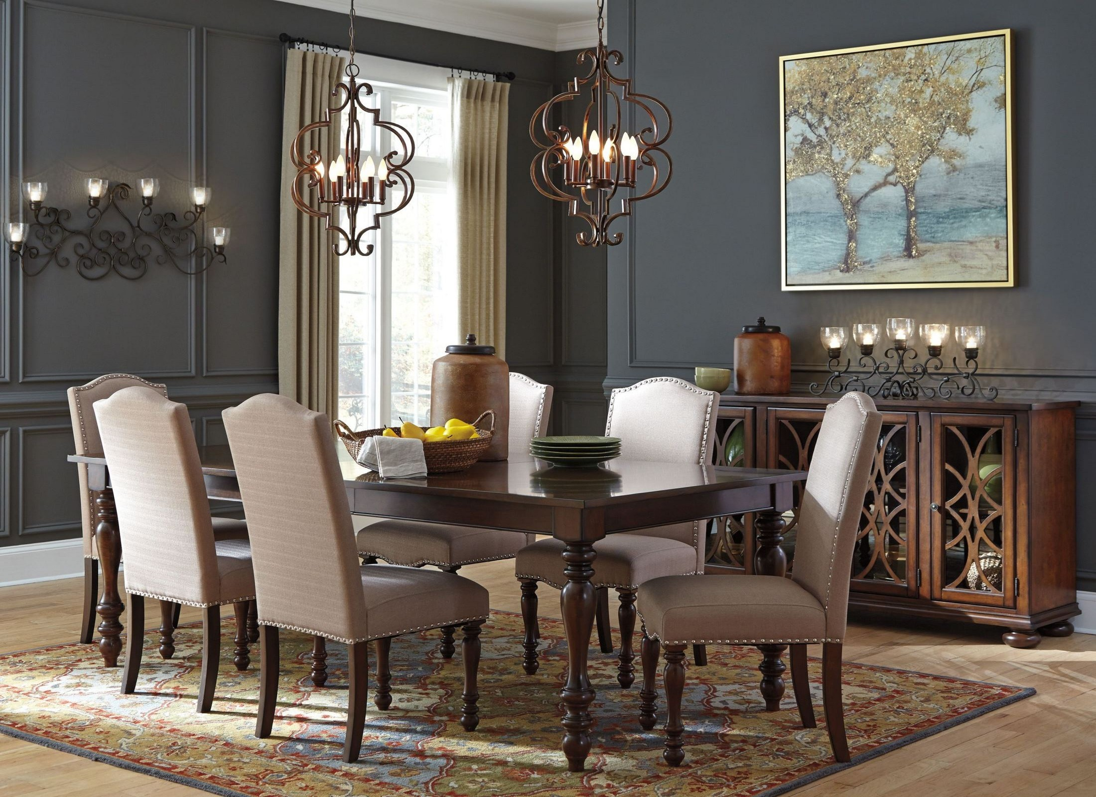 baxenburg brown extendable rectangular dining room set from ashley coleman furniture. Black Bedroom Furniture Sets. Home Design Ideas