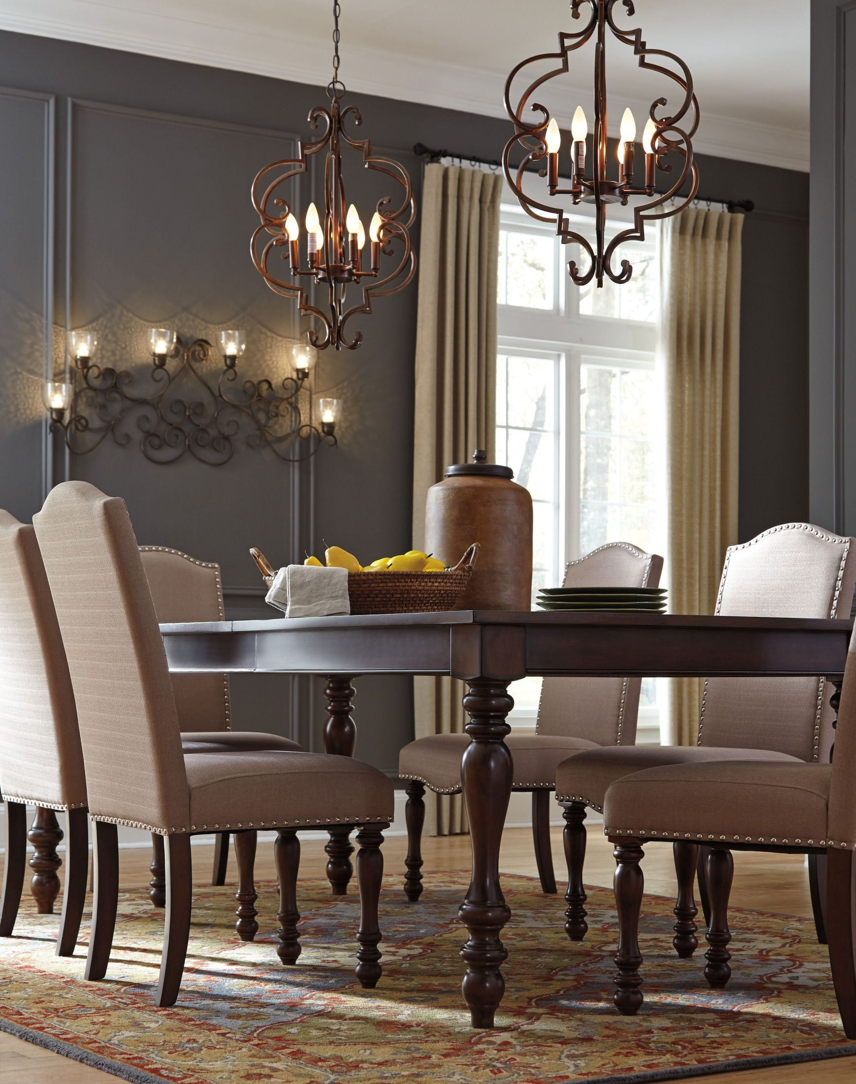 Baxenburg Brown Extendable Rectangular Dining Table from Ashley