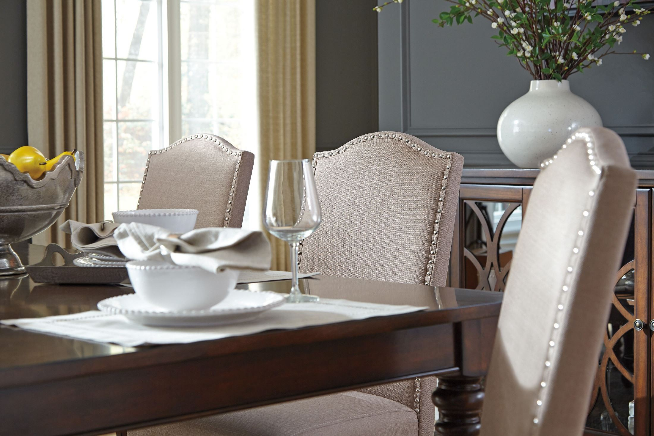 Baxenburg Brown Extendable Rectangular Dining Table from Ashley ...